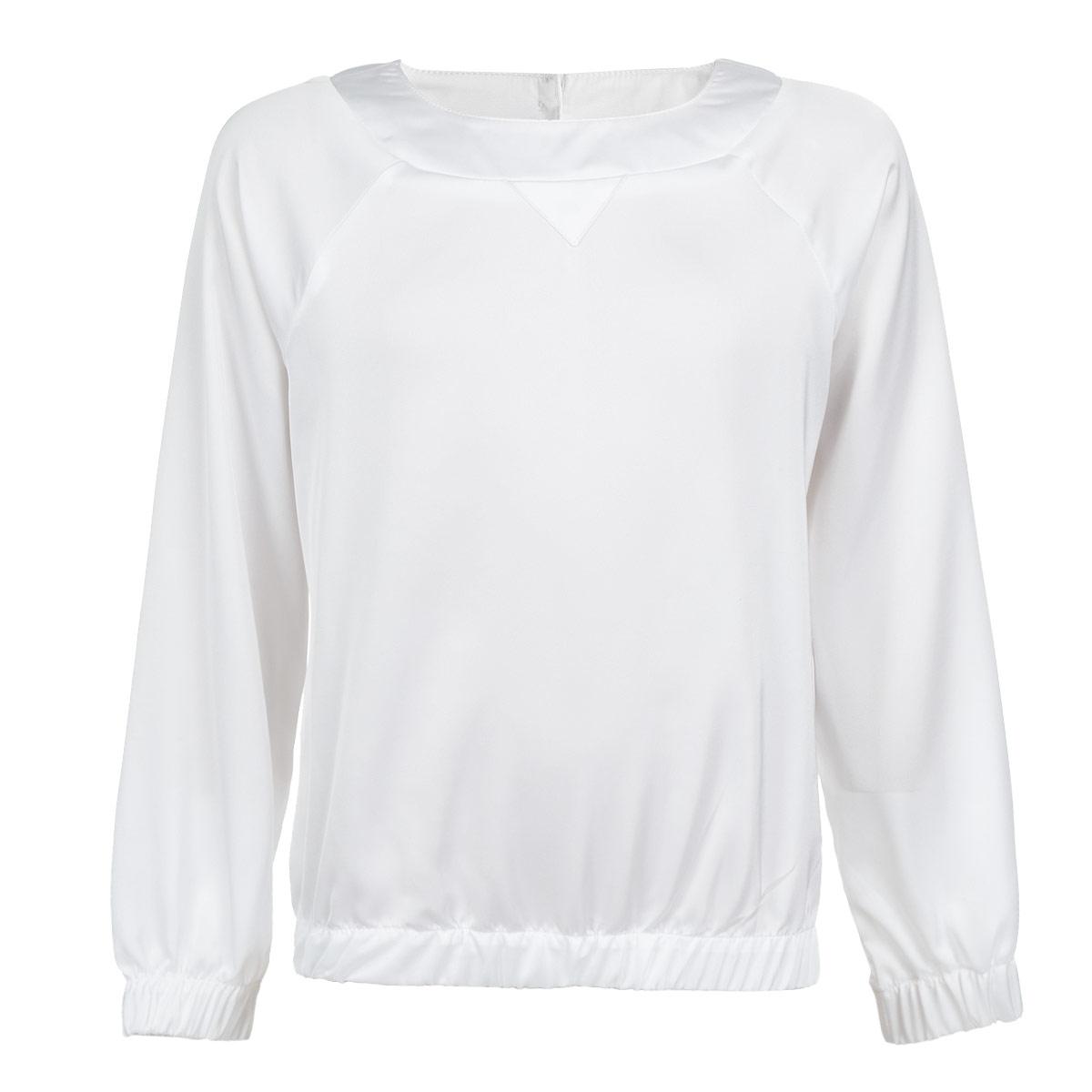 Блузка для девочки. 6306563065_OLG_вар.1Очаровательная блузка для девочки Orby в стиле Casual идеально подойдет для вашей модницы. Изготовленная из высококачественного материала, она мягкая, легкая и приятная на ощупь, не сковывает движения и позволяет коже дышать, не раздражает даже самую нежную и чувствительную кожу ребенка, обеспечивая наибольший комфорт. Блузка свободного силуэта с круглым вырезом горловины и длинными рукавами-реглан по спинке застегивается на две оригинальные пуговицы. Рукава дополнены широкими эластичными манжетами. Понизу проходит широкая эластичная резинка, что придает изделию оригинальность. Такая блузка - незаменимая вещь для школьной формы, отлично сочетается с юбками, брюками и сарафанами.