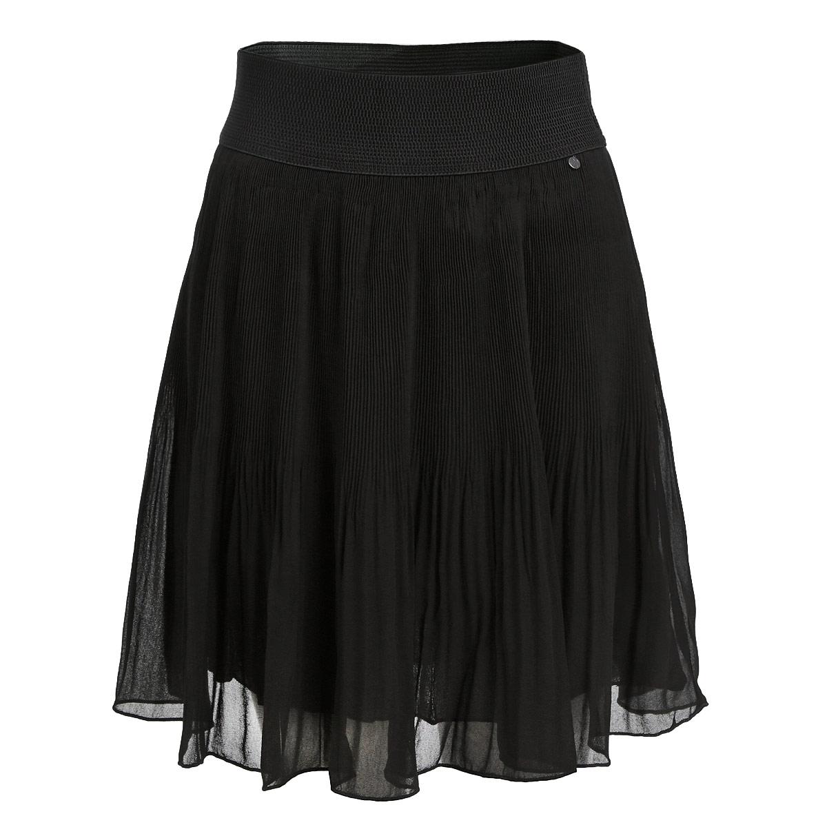 Юбка. 1325913259Стильная юбка-плиссе F5 выполнена из легкого струящегося и приятного на ощупь полиэстера. Юбка на талии имеет широкую эластичную резинку. Для большего комфорта предусмотрен подъюбник. Стильная юбка выгодно освежит и разнообразит любой гардероб. Создайте женственный образ и подчеркните свою яркую индивидуальность!
