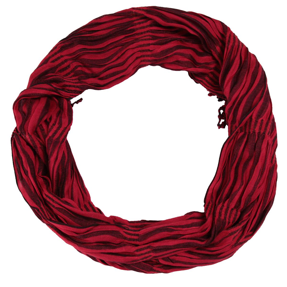 Шарф437075нСтильный шарф Ethnica создан подчеркнуть ваш неординарный вкус и индивидуальность. Шарф выполнен из мягкой вискозы с жатым эффектом и оформлен полосатым принтом. По краям шарф декорирован кисточками. Этот модный аксессуар гармонично дополнит образ современной женщины, следящей за своим имиджем и стремящейся всегда оставаться стильной и элегантной.