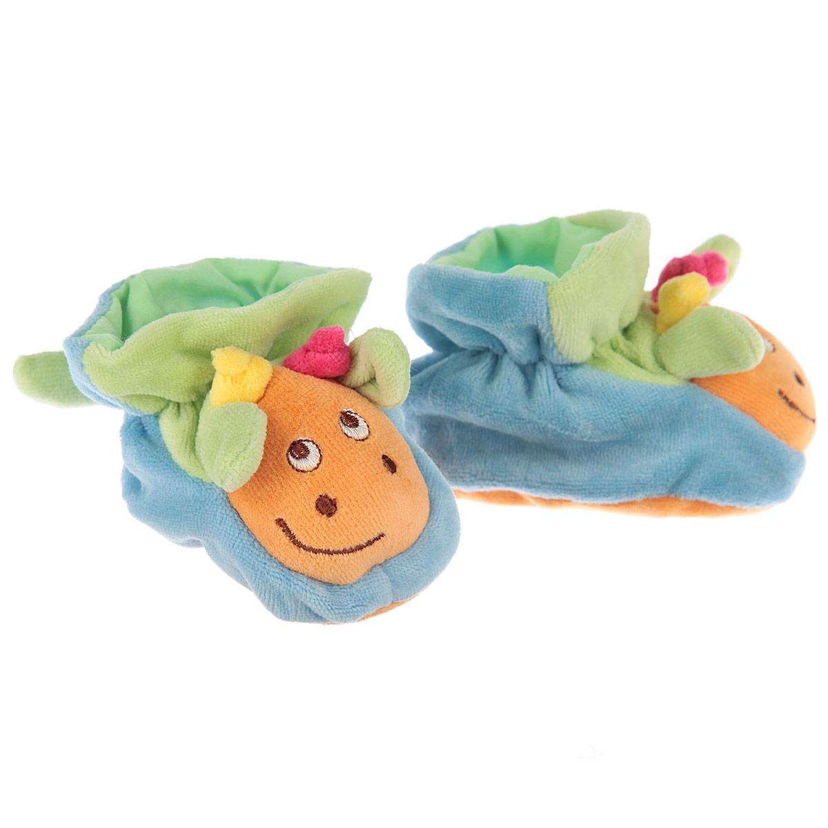 ПинеткиР47061Очаровательные пинетки Baby Nice Жирафики идеально подойдут для маленьких ножек вашего крохи! Они очень нежные и приятные на ощупь, не раздражают кожу и хорошо вентилируются. В хлопковых велюровых пинетках ножка малыша дышит и не мерзнет - созданы все комфортные условия, для того, чтобы подумать о первых шагах! Пинетки изготовлены из очень мягкого и приятного на ощупь ворсистого материала - 100% хлопка и оформлены объемной головой в виде жирафика. Благодаря скрытой эластичной резинке пинетки будут отлично держаться на ножке младенца. Подошва выполнена в контрастном цвете. Такие пинетки - отличное решение для малышей и их родителей!