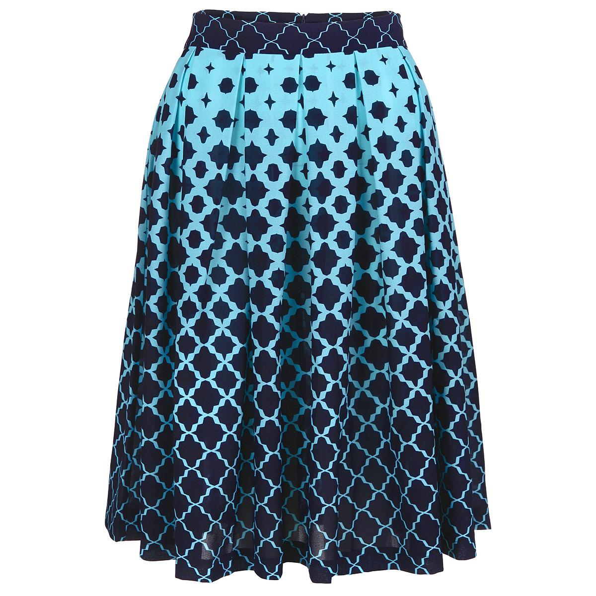 Юбка. ю0158/ю0156ю0158Очаровательная юбка от Lautus добавит женственные нотки в ваш модный образ. Модель выполнена из полиэстера с небольшим добавлением эластана. Юбка застегивается на потайную застежку-молнию, расположенную в заднем шве. Изящная модель с посадкой на талии подчеркнет красоту и стройность ваших ног, сделает ваш образ более хрупким. Изделие оформлено модным контрастным принтом. Стильная юбка - основа гардероба настоящей леди. Она подчеркнет ваше отменное чувство стиля и безупречный вкус!