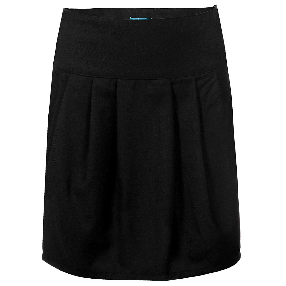 Юбка для девочки. 215BBGS61215BBGS6101Стильная юбка для девочки Button Blue идеально подойдет для школы и повседневной носки. Изготовленная из высококачественного материала, она необычайно мягкая и приятная на ощупь, не сковывает движения малышки и позволяет коже дышать, не раздражает даже самую нежную и чувствительную кожу ребенка, обеспечивая ему наибольший комфорт. Юбка на широком поясе, сбоку застегивается на потайную застежку-молнию. Крупные складки спереди и сзади обеспечивают комфортный свободный силуэт. Классический фасон юбки традиционно является основой школьного гардероба девочки, создавая привычный образ скромной, серьезной, аккуратной ученицы. Такая юбка - незаменимая вещь для школьной формы, отлично сочетается с блузками и пиджаками.