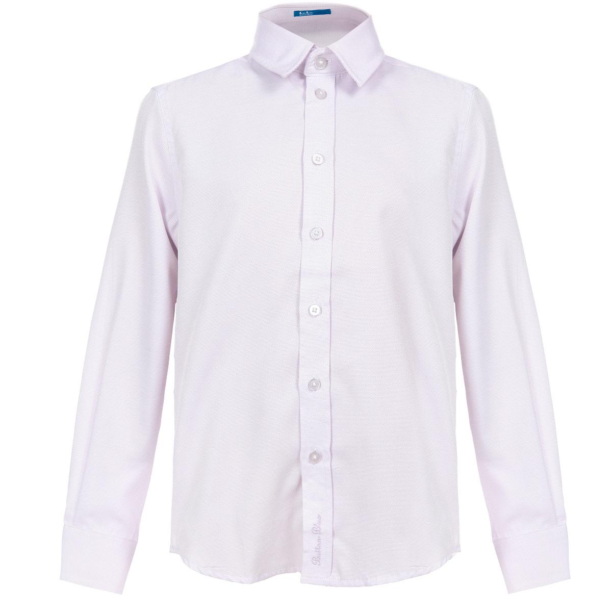 215BBBS2304Стильная рубашка для мальчика Button Blue идеально подойдет вашему ребенку. Изготовленная из хлопка с добавлением полиэстера, она мягкая и приятная на ощупь, не сковывает движения и позволяет коже дышать, не раздражает даже самую нежную и чувствительную кожу ребенка, обеспечивая ему наибольший комфорт. Рубашка классического кроя с длинными рукавами и отложным воротничком застегивается на пуговицы. Рукава дополнены широкими манжетами, застегивающимися на три пуговицы. Оформлено изделие фактурными цветными полосками и украшено понизу фирменной вышивкой в виде названия бренда. Воротник оформлен прострочкой. Низ изделия по бокам закруглен. Современный дизайн и модная расцветка делают эту рубашку стильным предметом детского гардероба. Ее можно носить как с джинсами, так и с классическими брюками.