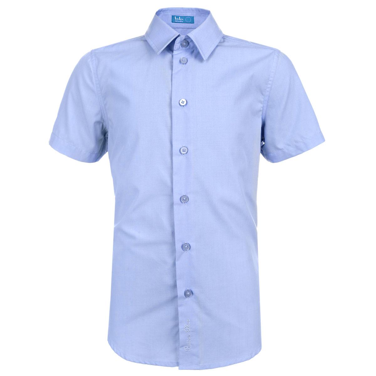 Рубашка для мальчика. 215BBBS2306215BBBS2306Стильная рубашка для мальчика Button Blue идеально подойдет вашему ребенку. Изготовленная из хлопка и полиэстера, она мягкая и приятная на ощупь, не сковывает движения и позволяет коже дышать, не раздражает даже самую нежную и чувствительную кожу ребенка, обеспечивая ему наибольший комфорт. Рубашка классического кроя с короткими рукавами и отложным воротничком застегивается на пуговицы. Оформлено изделие понизу фирменной вышивкой в виде названия бренда. Воротник оформлен прострочкой. Низ изделия по бокам закруглен. Современный дизайн и модная расцветка делают эту рубашку стильным предметом детского гардероба. Ее можно носить как с джинсами, так и с классическими брюками.