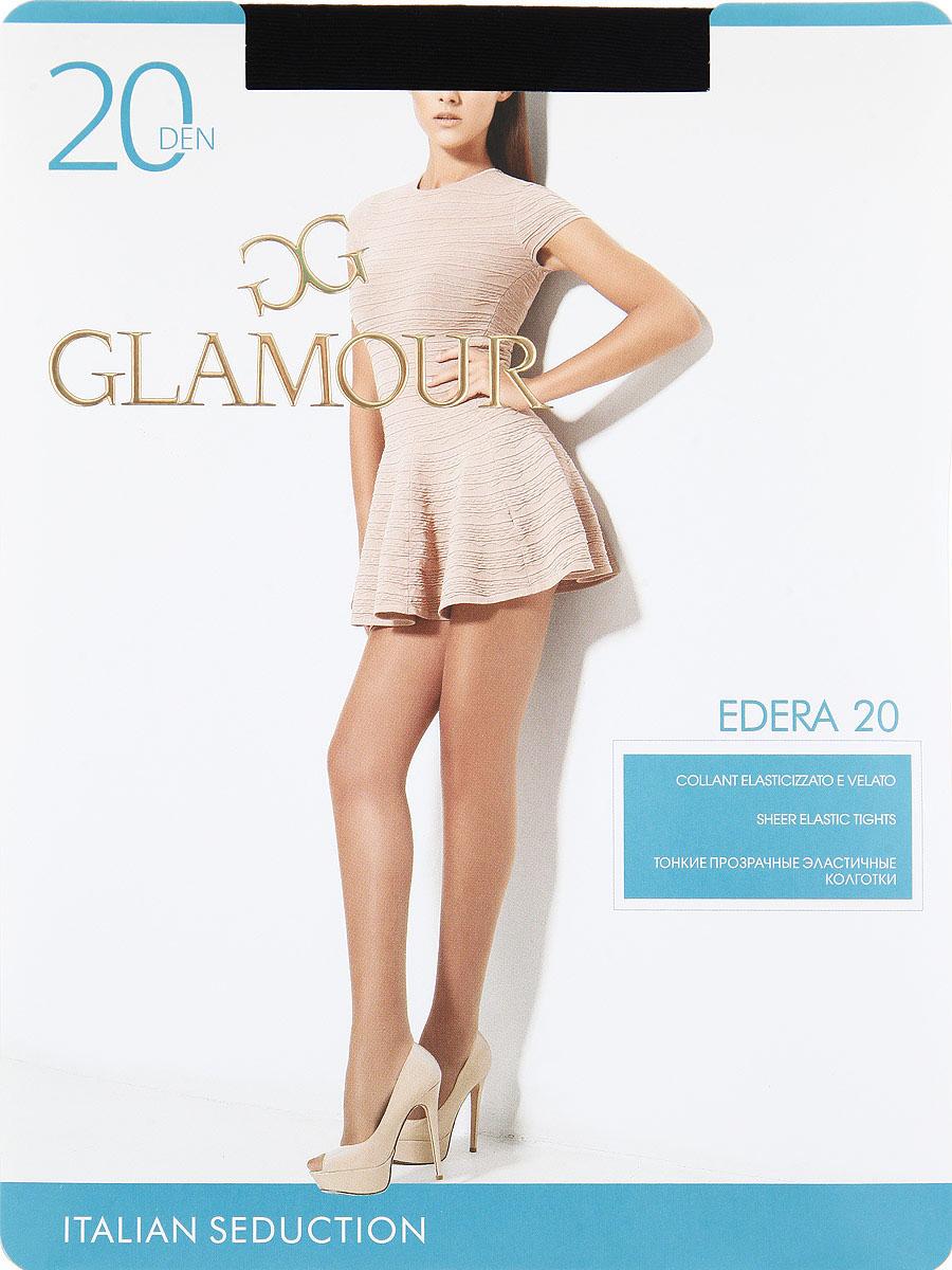 Колготки женские Glamour Edera 20Edera 20Тонкие прозрачные эластичные колготки с шортиками, комфортным поясом и прозрачным укрепленным мыском. Плотность: 20 den.