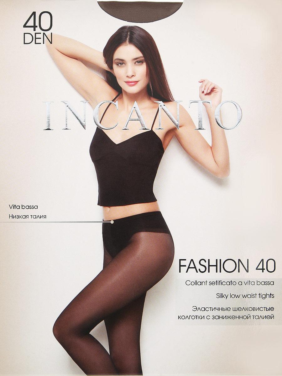 Колготки Fashion 40Fashion 40Эластичные шелковистые колготки с заниженной талией. Комфортный широкий пояс, гигиеническая ластовица, прозрачный укрепленный мысок. Плотность: 40 den.