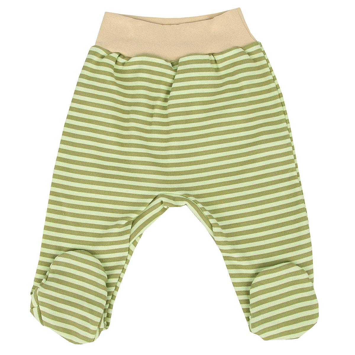 Ползунки на широком поясе для мальчика. 52835283Удобные ползунки для новорожденного КотМарКот на широком поясе послужат идеальным дополнением к гардеробу вашего малыша. Ползунки, изготовленные из натурального хлопка - интерлока, они необычайно мягкие и легкие, не раздражают нежную кожу ребенка и хорошо вентилируются, а эластичные швы приятны телу младенца и не препятствуют его движениям. Ползунки с закрытыми ножками благодаря мягкому эластичному поясу не сдавливают животик ребенка и не сползают, обеспечивая ему наибольший комфорт, идеально подходят для ношения с подгузником и без него. Изделие оформлено принтом в полоску. Ползунки отлично сочетаются с футболками, кофточками и боди. В них вашему малышу будет уютно и комфортно!