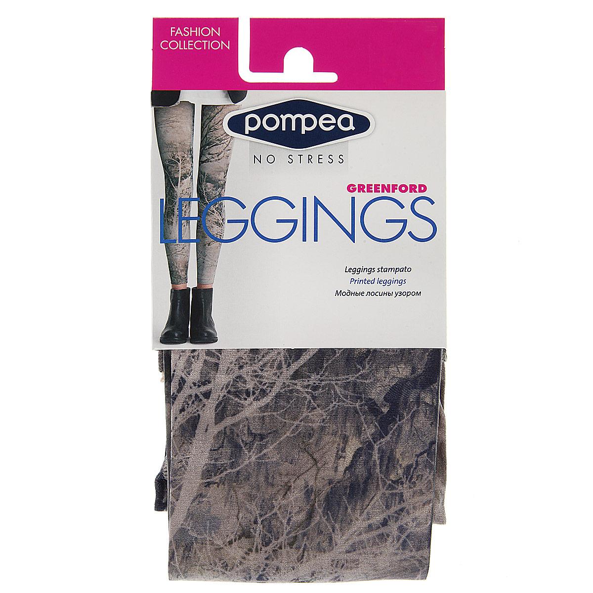Леггинсы90768957_NatureМодные женские леггинсы Pompea Greenford Fashion изготовлены из эластичного материала. Леггинсы на талии имеют широкую уплотненную мягкую резинку. Модель обтягивающего силуэта выгодно подчеркнет достоинства вашей фигуры. Такие леггинсы вы можете носить с туникой, длинной футболкой или майкой. Они послужат отличным дополнением к вашему гардеробу, в них вы будете чувствовать себя комфортно и уютно.