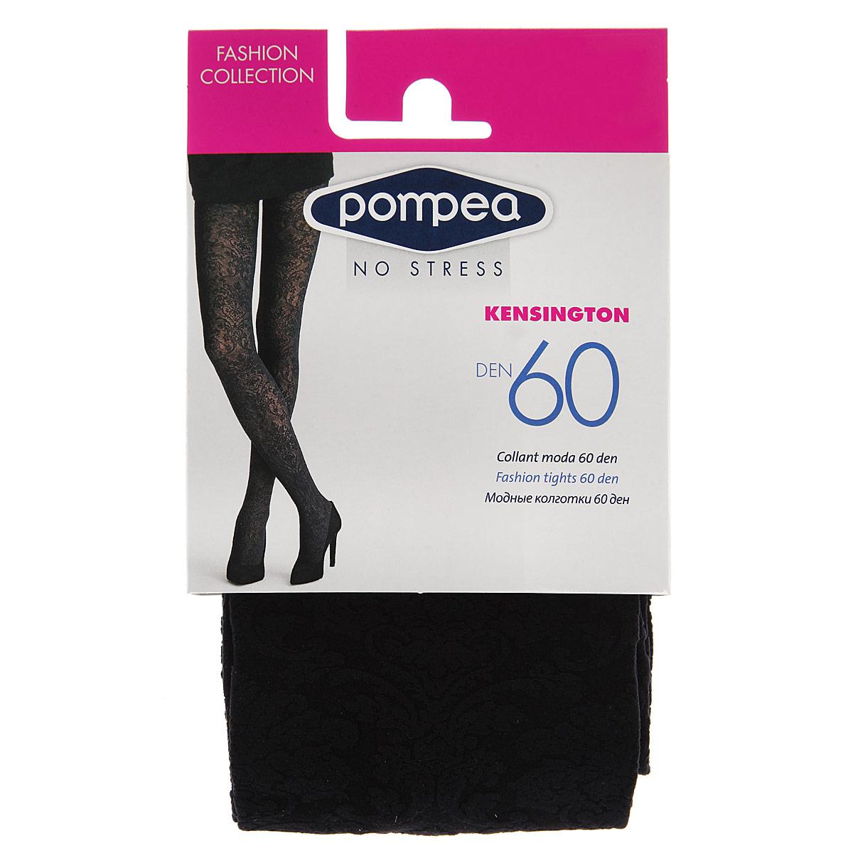 Колготки женские Pompea Kensington Fashion 6090768981 NeroМодные женские фантазийные и практичные колготки плотностью 60 ден, с мягким поясом, подходит как для праздника, так и для каждодневной носки.