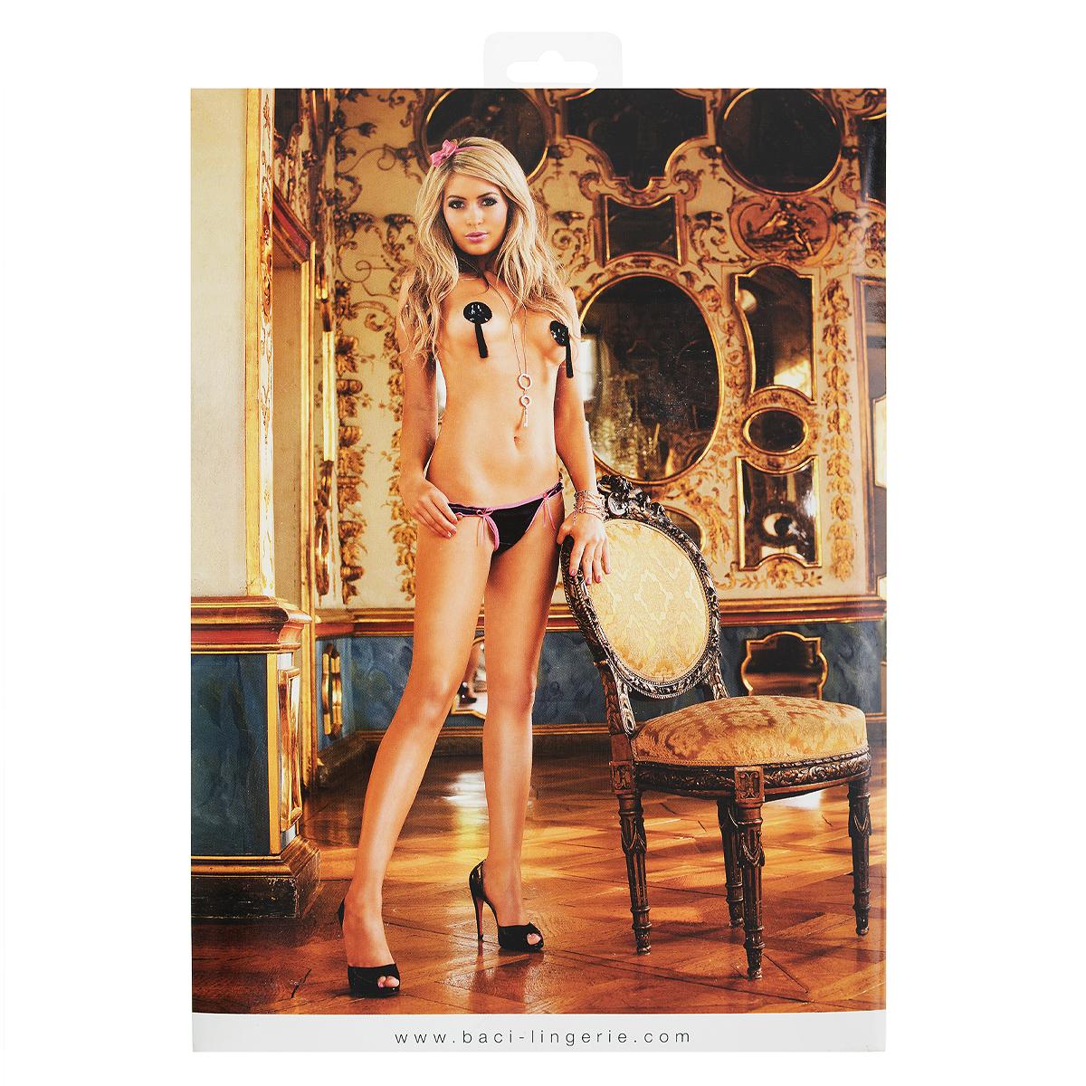 Трусы-стринги женские Barbie. 124124Стринги G-образной формы с контрастной отделкой подчеркивают ваш изысканный вкус. Приятная ткань из микроволокна и изысканная аппликация из бантиков производят особенно эффектное впечатление. Ластовица выполнена из хлопка.