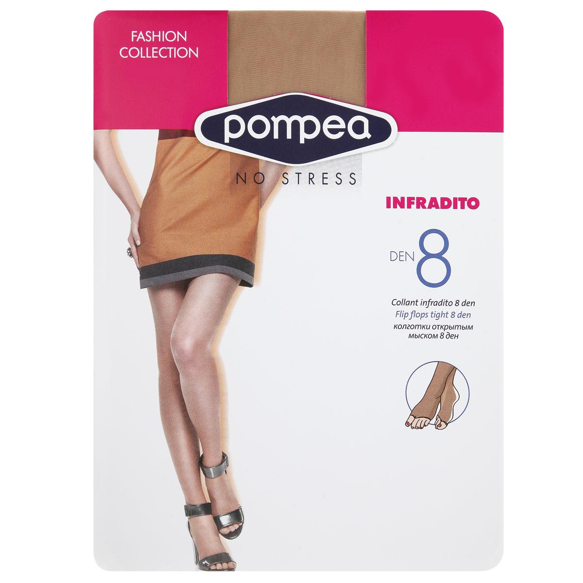 Колготки женские Infradito Fashion 890768871 NaturaleМодные женские фантазийные колготки плотностью 8 Ден, с трусиками, с открытым мыском.
