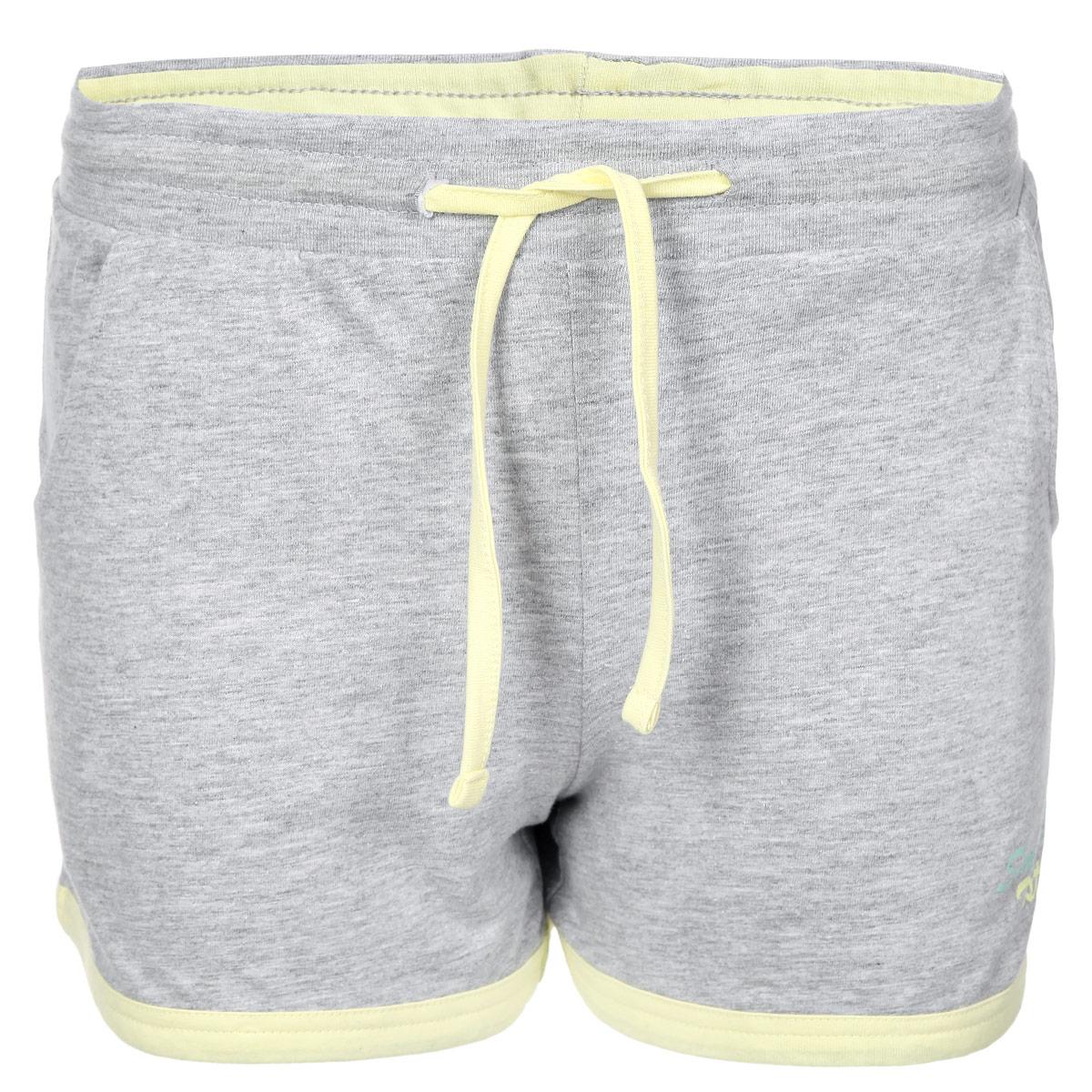 Шорты женский. L-SH-1703L-SH-1703 GREY MELANGEОчаровательные летние шорты Moodo выполнены из 100% хлопка. Модель на широкой эластичной резинке, затягивается на кулиску. Шорты спереди дополнены двумя втачными карманами. Низ изделия, внутренняя сторона пояса и затягивающийся шнурок выполнены из материала контрастного цвета. Шорты декорированы небольшим принтом с изображением ананаса и надписью Summer Taste. Лаконичная модель позволит вам создать множество ярких образов на каждый день. Стильные шорты - незаменимая вещь в летнем гардеробе современной девушки.
