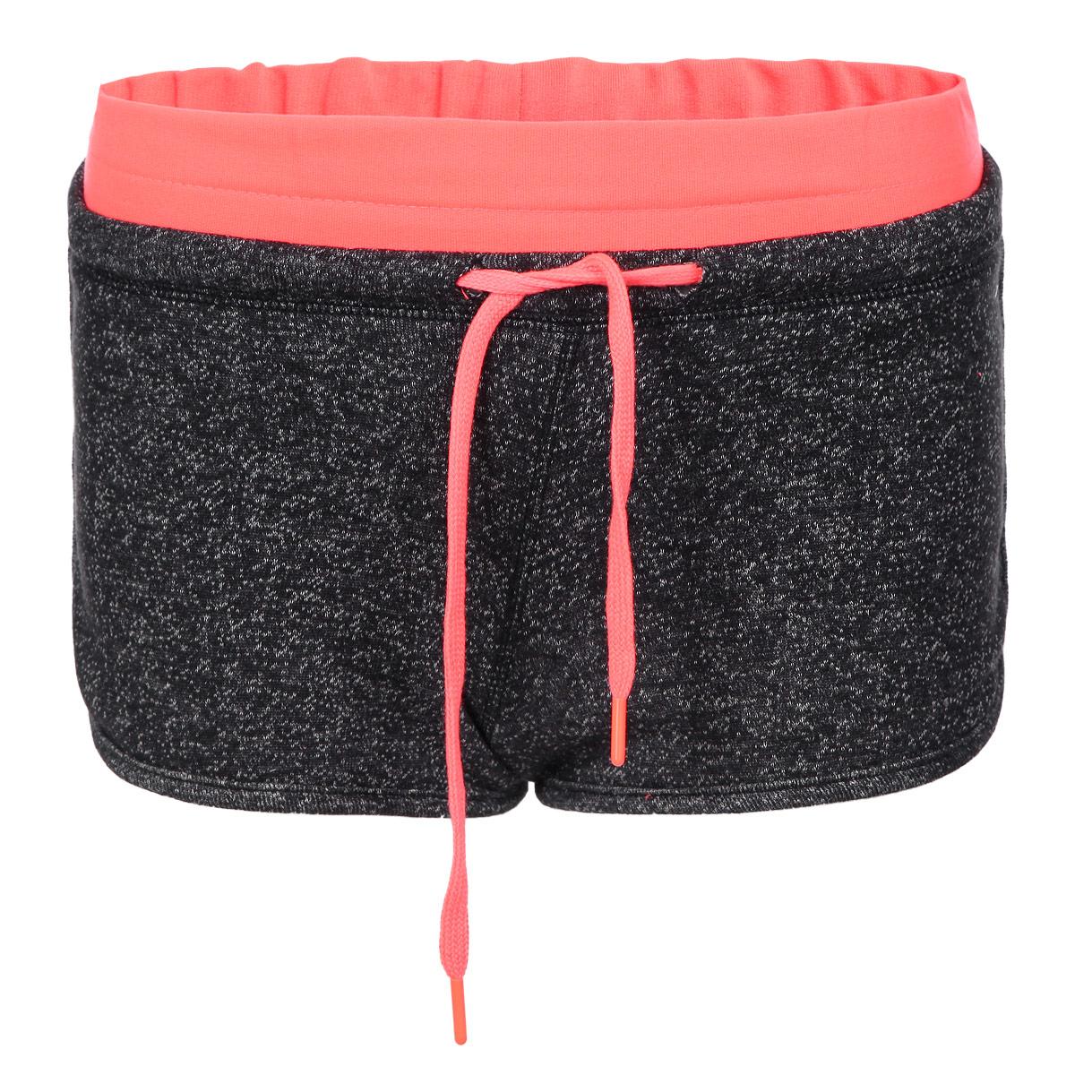 Шорты женские. L-SH-1700L-SH-1700 BLACK MELANGEСтильные женские шорты Moodo выполнены из высококачественного материала - полиэстера с добавлением хлопка. С изнаночной стороны - очень мягкий ворсистый материал, приятный на ощупь. Модель на широкой эластичной резинке, затягивается на кулиску. Пояс и затягивающийся шнурок выполнены в контрастном цвете. Стильные шорты - незаменимая вещь в летнем гардеробе каждой девушки.