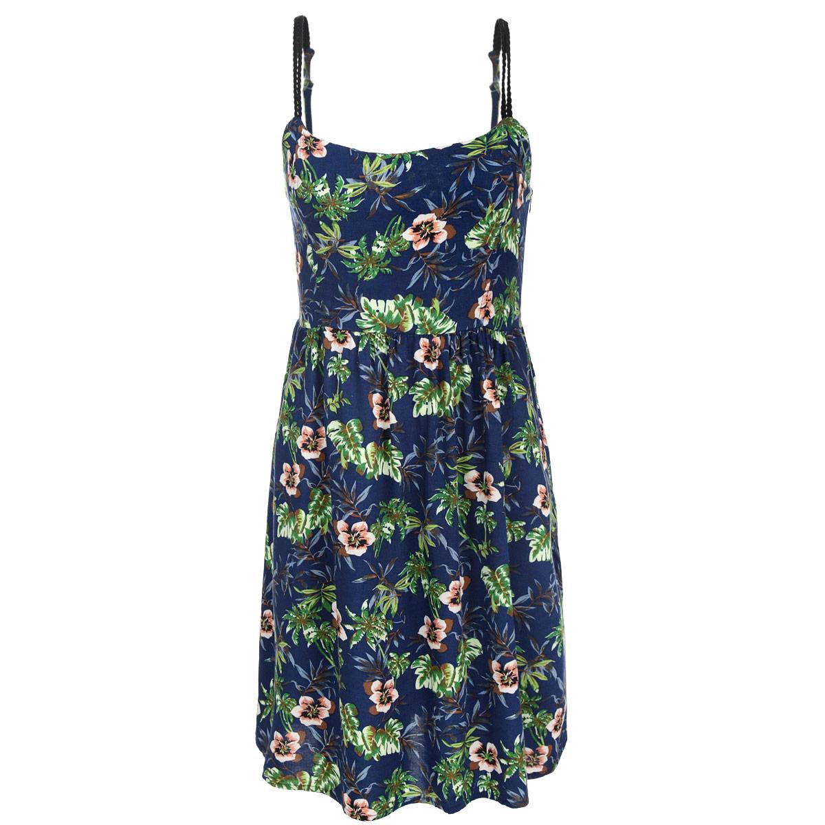 Платье. L-SU-1704 NAVYL-SU-1704 NAVYМодное платье Moodo, изготовленное из высококачественной вискозы с цветочным принтом, подарит вам ощущение праздника и комфорта. Модель средней длины, на тонких двойных бретельках, на спине дополнена мелкой резинкой, что обеспечивает наилучшую посадку. Лямки регулируются по длине. Сбоку изделие застегивается на потайную молнию. В этом платье вы всегда будете чувствовать себя уверенно, оставаясь в центре внимания.