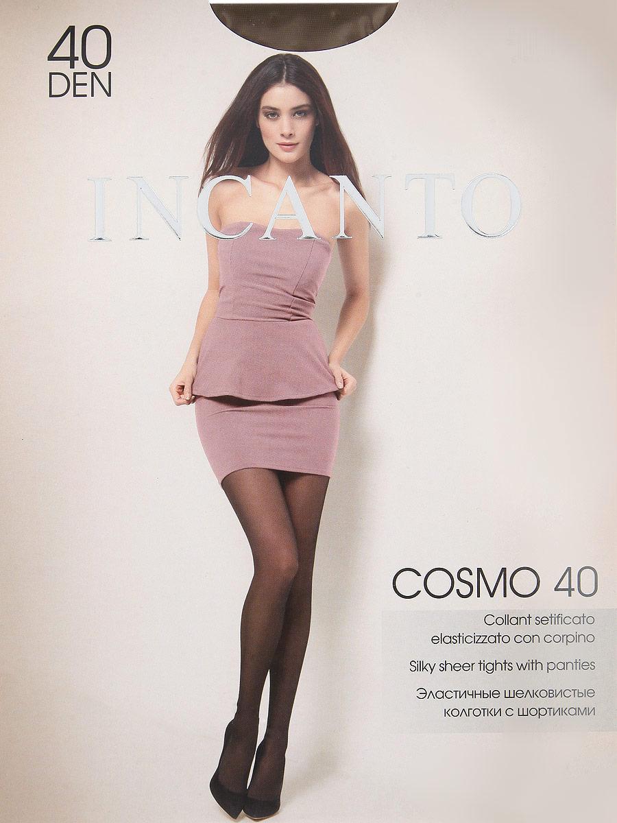 Колготки Cosmo 40Cosmo 40Эластичные шелковистые колготки с шортиками, комфортным поясом и прозрачным укрепленным мыском. Плотность: 40 den.