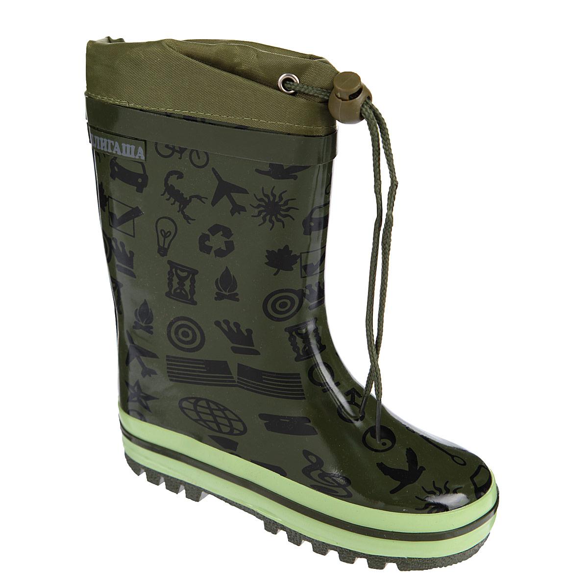 13-307Резиновые сапожки идеальная - обувь в дождливую погоду. Сапоги выполнены из качественной резины, модель декорирована принтом с логотипом бренда. Подкладка, выполненная из текстиля, подарит ощущение комфорта вашему малышу. Главным преимуществом резиновых сапожек является наличие съемного текстильного носочка, что позволяет носить сапожки не только дождливым летом, но и сырой прохладной осенью. Текстильный верх голенища регулируется в объеме за счет шнурка с бегунком. Резиновые сапожки прекрасно защитят ножки вашего ребенка от промокания в дождливый день.