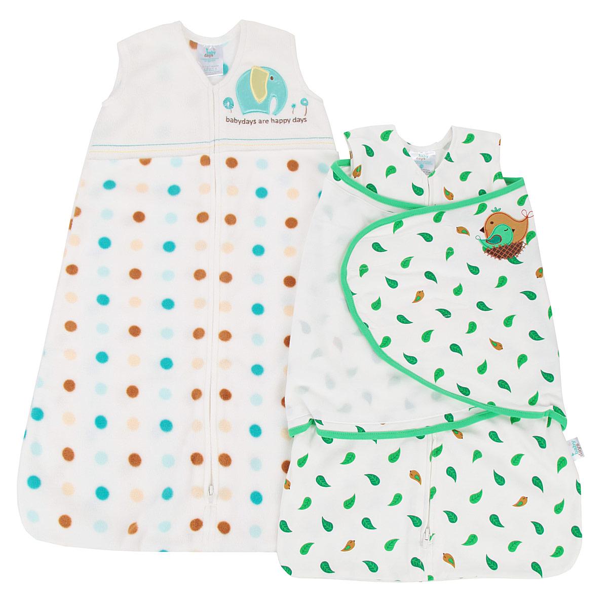 Спальный мешок для новорожденныхbd20003Подарочный набор для новорожденного Babydays, состоящий из спального конверта с липучками и спального мешка, удобен в использовании, как для малыша, так и для родителей. Изделия выполнены из высококачественного материала, абсолютно безопасного для ребенка. Материал отличается высокой прочностью и износостойкостью, не линяет, не теряет яркости, сохраняет свой первоначальный вид по мере использования и носки. Конверт одевается поверх обычной одежды для сна, обеспечивая максимальный комфорт и безопасность. Конверт и мешок одеваются поверх обычной одежды для сна, обеспечивая максимальный комфорт и безопасность. Спальный мешок без рукавов и с V-образным вырезом горловины застегивается на длинную застежку снизу вверх, что делает удобным смену подгузников и не травмирует подбородок. Безрукавный крой снижает риск перегрева. Свободная нижняя часть дает малышу достаточное пространство, чтобы двигать ножками: это необходимо для правильного развития тазобедренного сустава. Оформлено изделие...