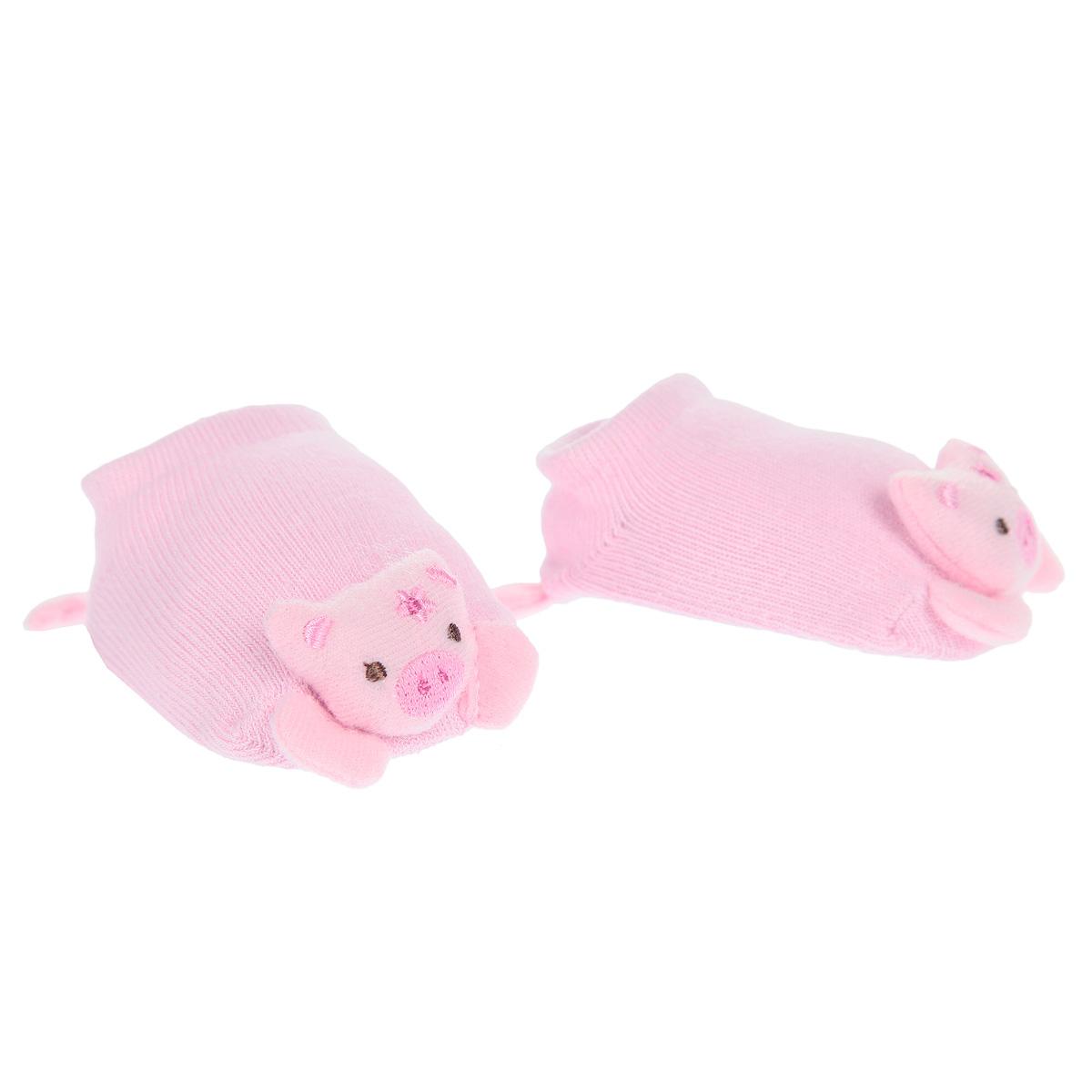 Носки детские. XY1205XY1205Комфортные, красивые и прочные детские носки Skidders очень мягкие на ощупь, а эластичная низкая резинка плотно облегает ножку ребенка, не сдавливая ее, благодаря чему малышу будет комфортно и удобно. Носочки хорошо тянутся, не деформируясь. На стопе расположены прорезиненные элементы, которые предотвращают скольжение на полу. Носочки выполнены в виде забавных поросят.