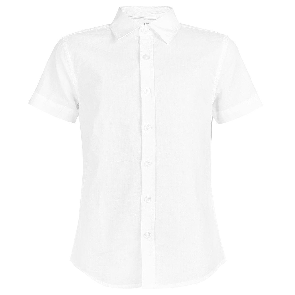 Рубашка для мальчика. Hs-812/018-5311Hs-812/018-5311Стильная рубашка для мальчика Sela с короткими рукавами идеально подойдет вашему ребенку, как для школы, так и для различных мероприятий. Изготовленная из натурального хлопка, она необычайно мягкая и приятная на ощупь, не сковывает движения и позволяет коже дышать, не раздражает даже самую нежную и чувствительную кожу ребенка, обеспечивая ему наибольший комфорт. Рубашка с отложным воротничком застегивается на пуговицы по всей длине. На груди она дополнена накладным кармашком. Низ изделия дополнен боковыми закруглениями. Современный дизайн и расцветка делают эту рубашку модным и стильным предметом детского гардероба. В ней ваш маленький мужчина всегда будет в центре внимания!