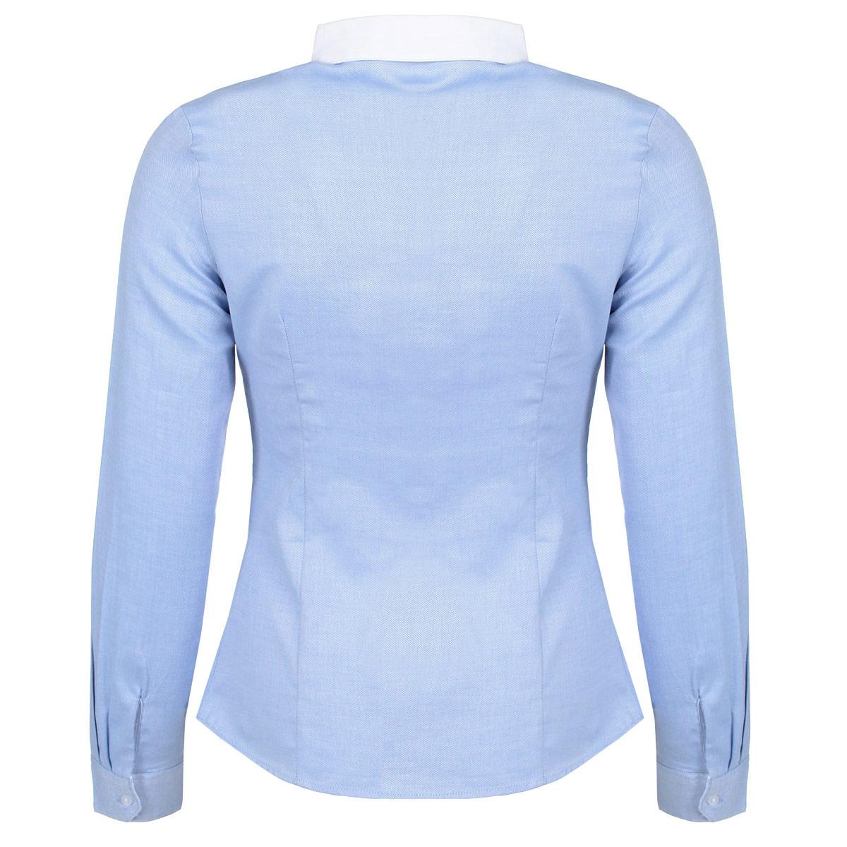 Блузка женская. B-112/588-5311B-112/588-5311Стильная женская блузка Sela - идеальный выбор для создания модного образа. Блузка выполнена из мягкого хлопка, приятная на ощупь, не раздражает кожу и хорошо вентилируется. Модель приталенного кроя с длинными рукавами и отложным круглым воротничком застегивается на пуговицы. Манжеты также застегиваются на пуговицы. Воротник выполнены из материала контрастного цвета. Такая блузка займет достойное место в вашем гардеробе.