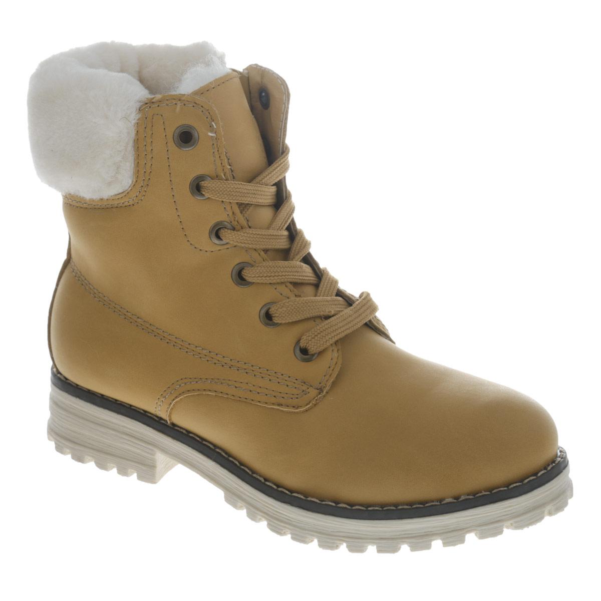 Ботинки для девочки. 558329/12558329/12-03Модные детские ботинки для девочки Keddo выполнены из искусственного нубука (50% хлопок, 50% полиэстер) и оформлены прострочкой, а также опушкой из искусственного меха. Ботинки на устойчивом небольшом каблуке с округлым мыском внутри выполнены из натуральной шерсти. Съемная стелька также выполнена из натуральной шерсти. Высокая прошитая подошва изготовлена из гибкого, нескользящего материала, устойчивого к истиранию и перепадам температур. Шнуровка и боковая застежка-молния позволяют модели отлично сидеть на ноге. Детские ботинки Keddo отличаются удобством.