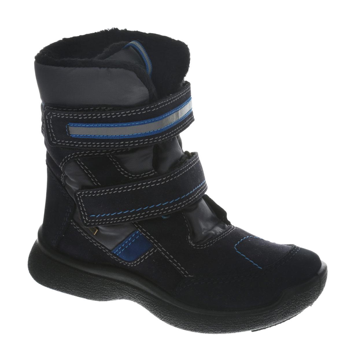 Сапоги для мальчика. 10-8210-82Замечательные сапоги для мальчика Аллигаша, изготовленные из современных материалов, обеспечат удобство и комфорт ножкам вашего малыша в прохладную погоду. Верх выполнен из комбинаций натуральной и искусственной кожи, а также оформлен текстильными ставками. Технология TEGINA-TEX - это обувь с применением специальной подкладочной мембраны, которая позволяет ноге дышать и абсолютно непроницаемо снаружи для воды и холода. На морозе удерживается тепло, а в помещении нога не потеет. Модель на высокой рифленой подошве с округлым мыском обеспечивает удобство и практичность на каждый день. Удобная пяточная часть укреплена. Внутренняя отделка из искусственного меха и шерсти. Удобные застежки- липучки по линии подъема обеспечивают практичность и комфортную фиксацию модели на ноге. Стелька из натуральной шерсти не даст ножке замерзнуть. Оформлена модель контрастной прострочкой. В таких сапожках ножкам вашего ребенка всегда будет комфортно, уютно и тепло!
