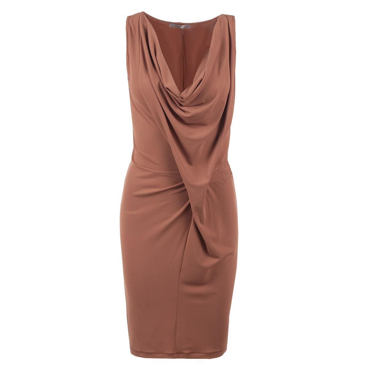 61D2H9Оригинальное женское платье Toy G, выполненное из высококачественного материала, будет отлично смотреться на вас. Модель оригинального кроя с глубоким V-образным каскадным вырезом горловины и без рукавов. С боку на талии платье оформлено вставкой с эластичной резинкой. Это платье идеальный вариант для вашего гардероба. Идеальный вариант для создания эффектного образа.