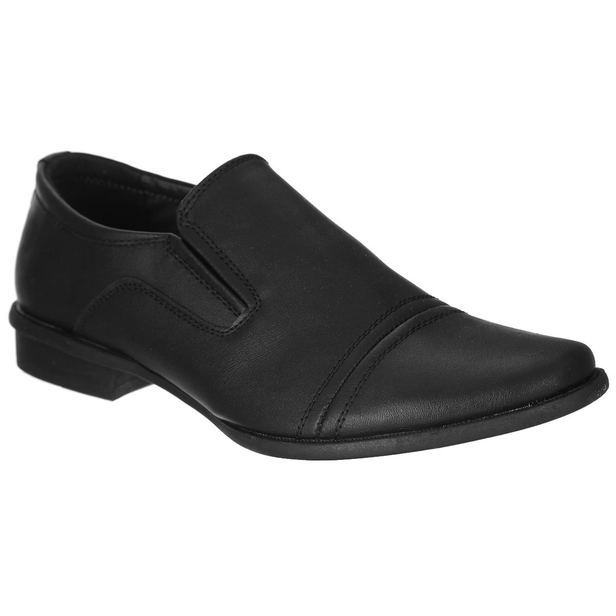 Туфли для мальчика. 558200/05-01558200/05-01Классические туфли от Keddo придутся по душе вашему мальчику! Модель выполнена из искусственной кожи и оформлена декоративной прострочкой, задним наружным ремнем. Резинки, расположенные на подъеме, гарантируют оптимальную посадку обуви на ноге. Стелька EVA с поверхностью из натуральной кожи дополнена супинатором, который обеспечивает правильное положение ноги ребенка при ходьбе, предотвращает плоскостопие. Рифленая поверхность каблука и подошвы защищает изделие от скольжения. Удобные туфли - незаменимая вещь в гардеробе каждого ребенка.
