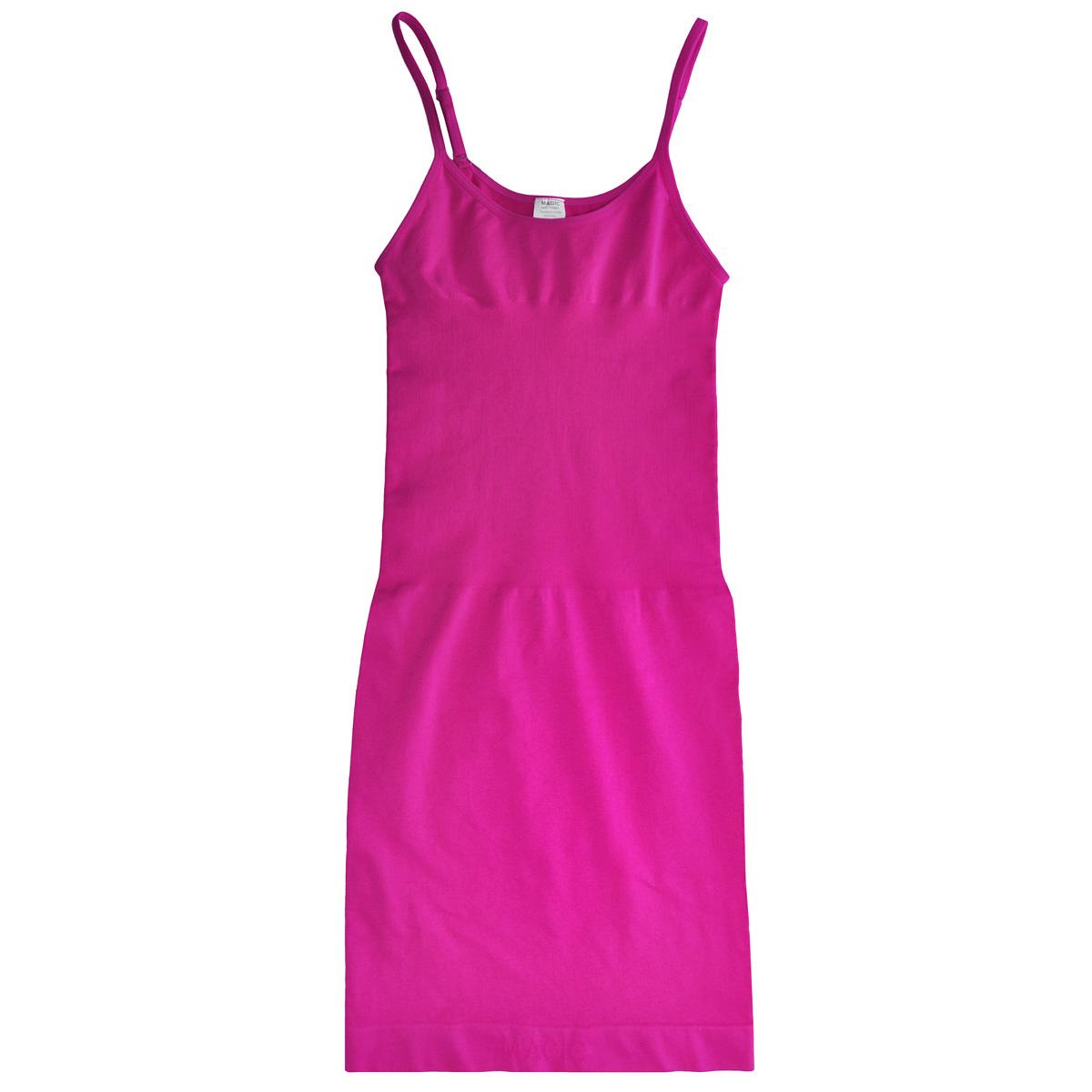 Платье Seamless Dress, корректирующее. 15BD15BDБесшовное корректирующее платье Magic BodyFashion Seamless Dress на тонких регулируемых бретелях очень удобное и комфортное в носке. Модель уменьшает живот и бедра, заметно корректирует объемы. Платье придаст вашему телу идеальные формы: сделает грудь и ягодицы подтянутыми, талию - стройной, а осанку - прямой. Функциональный покрой заметно подтягивает и моделирует фигуру, скрывая ее недостатки. Крой платья необычен, благодаря чему его невозможно заметить под любой одеждой, оно практически не ощущается на коже, позволяет чувствовать себя комфортно и легко. Изделие позволяет приобрести выразительные линии своего тела за считанные секунды (можно скрыть все лишнее и придать объем там, где необходимо). Белье Magic BodyFashion создано для тех, кто стремится к безупречности своего стиля. Именно благодаря ему огромное количество женщин чувствуют себя поистине соблазнительными, привлекательными и не на шутку уверенными в себе.