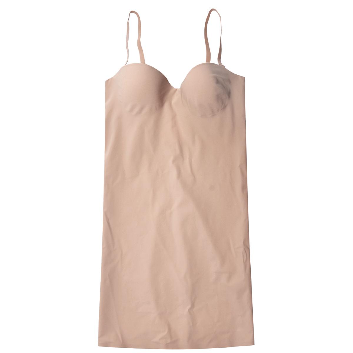 18SDКорректирующее платье Magic BodyFashion Shape-Up Dress на тонких съемных регулируемых бретелях очень удобное и комфортное в носке. Модель с высокой степенью утяжки по всей поверхности придает фигуре желаемые очертания. Бюстгальтер с каркасом поддержит вашу грудь в любых обстоятельствах, сзади застегивается на три крючка в трех позициях. Крой платья необычен, благодаря чему его невозможно заметить под любой одеждой, оно практически не ощущается на коже, позволяет чувствовать себя комфортно и легко. Изделие позволяет приобрести выразительные линии своего тела за считанные секунды (можно скрыть все лишнее и придать объем там, где необходимо). Белье Magic BodyFashion создано для тех, кто стремится к безупречности своего стиля. Именно благодаря ему огромное количество женщин чувствуют себя поистине соблазнительными, привлекательными и не на шутку уверенными в себе.