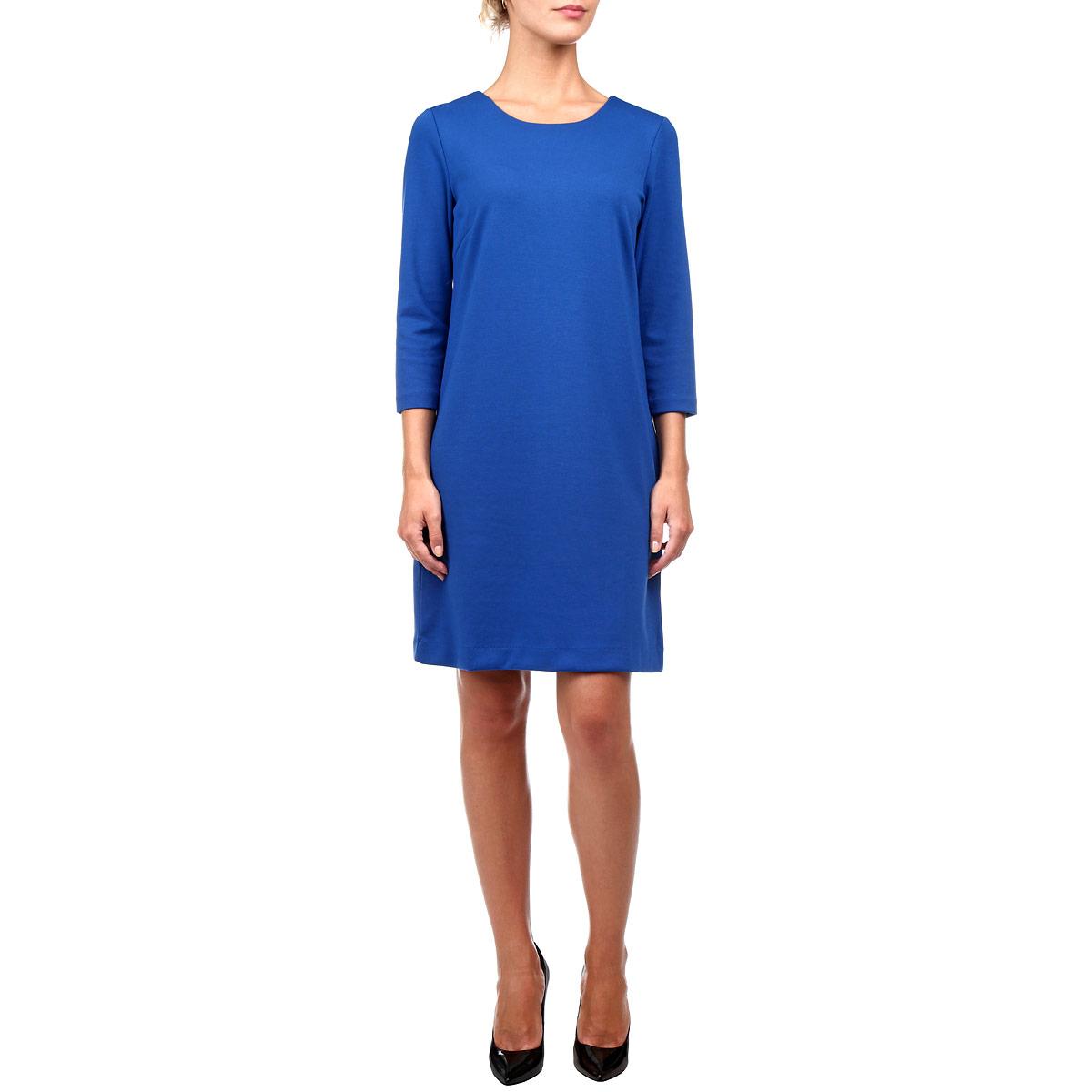Платье. DK-117/495-5392DK-117/495-5392Стильное трикотажное платье Sela, выполненное из высококачественного плотного материала, будет отлично на вас смотреться. Модель А-силуэта с рукавами 3/4 и круглым вырезом горловины выполнена в лаконичном насыщенном цвете. Классический покрой, модный дизайн, безукоризненное качество. Идеальный вариант для тех, кто ценит комфорт и качество.