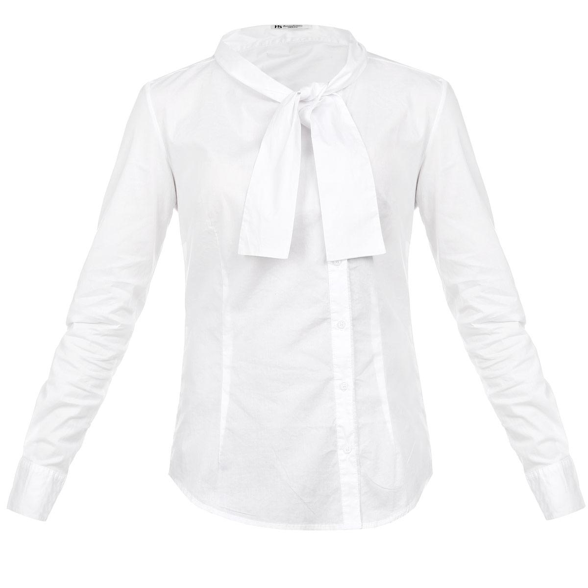 Рубашка женская. 17280/DN17280/DNСтильная женская рубашка F5, выполненная из высококачественного хлопкового материала, - находка для современной женщины, желающей выглядеть стильно и модно. Модель прямого кроя с длинными рукавами и полукруглым низом застегивается на пуговицы. Круглый вырез горловины оформлен оригинальными завязками. Такая модель, несомненно, вам понравится и послужит отличным дополнением к вашему гардеробу.