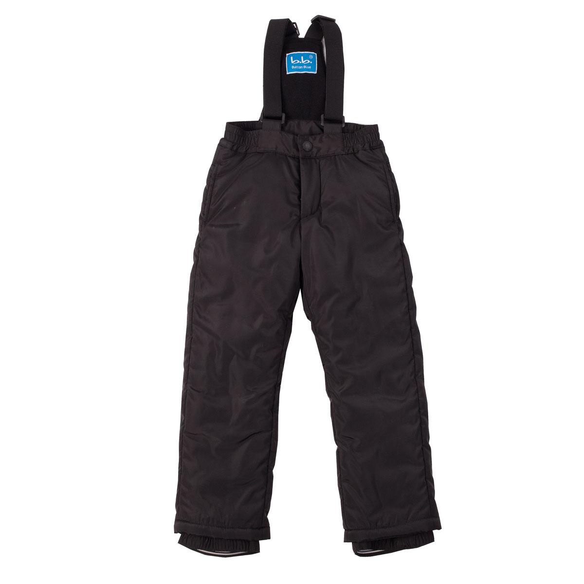 Полукомбинезон для мальчика. 215BBBB67215BBBB6701Теплый полукомбинезон для мальчика Button Blue идеально подойдет для ребенка в холодное время года. Полукомбинезон изготовлен из водоотталкивающей ткани, а для максимального комфорта на большей части подкладки используется мягкий флис, который не раздражает нежную кожу ребенка и хорошо сохраняет тепло. В качестве наполнителя используется 100% полиэстер. Полукомбинезон имеет эластичные наплечные лямки, регулируемые по длине. На талии он застегивается на металлический крючок и имеет ширинку на застежке-молнии. На поясе предусмотрена широкая эластичная резинка, которая позволяет надежно заправить рубашку, водолазку или свитер. По бокам имеются два прорезных кармашка. Брючины дополнены скрытыми манжетами с прорезиненными полосками, препятствующими попаданию грязи и снега в обувь. Комфортный, удобный и практичный этот полукомбинезон идеально подойдет для прогулок и игр на свежем воздухе!