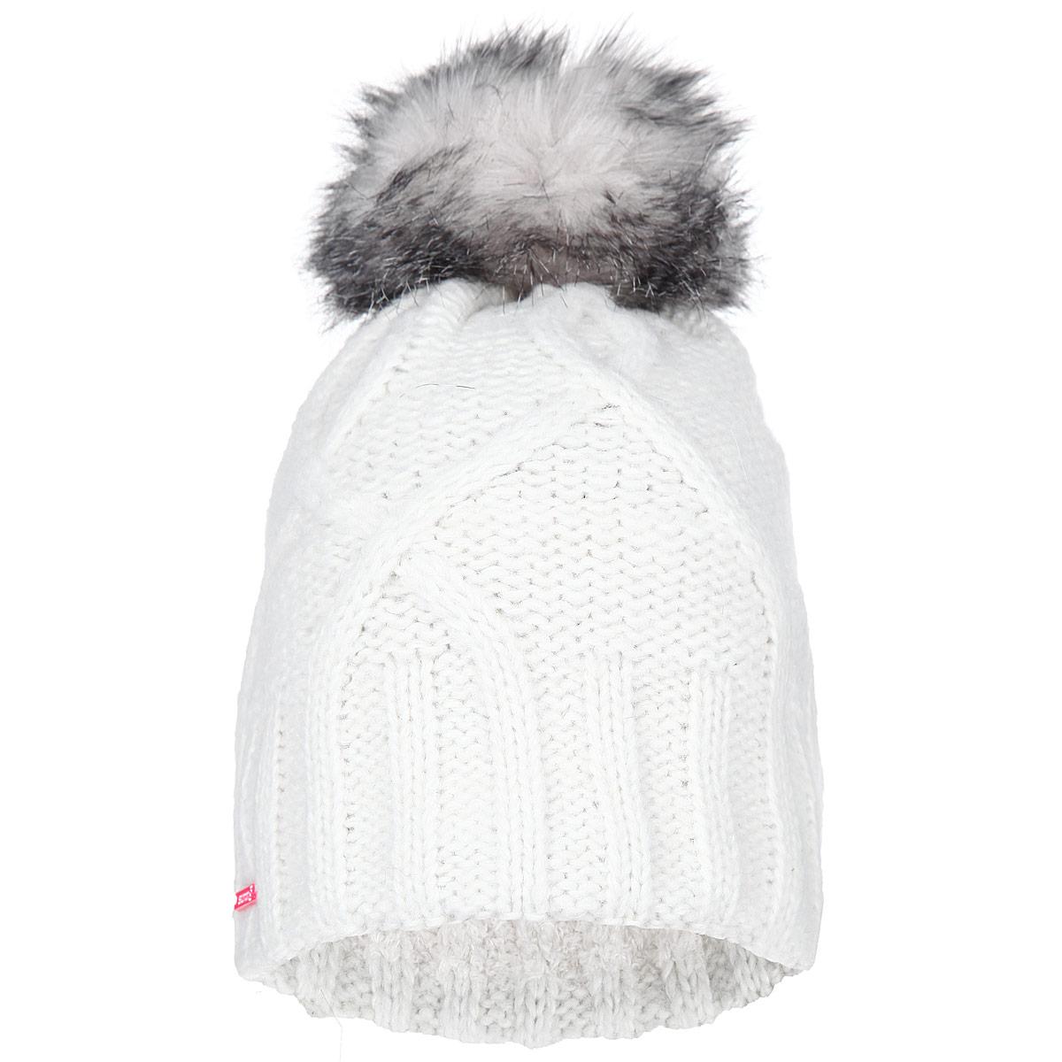 Шапка женская Ivy Beanie. L36616900L36616900Вязаная шапка Salomon Ivy Beanie, выполненная из акрилика и шерсти, отличается женственным дизайном, а флисовая подкладка и шерстяная вязка подарят вам комфорт и тепло. Шапка оформлена помпоном из искусственного меха. Такая шапка составит идеальный комплект с верхней одеждой.