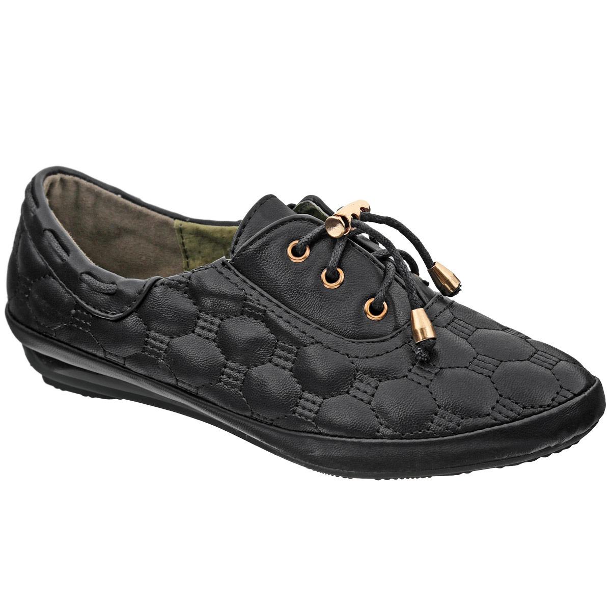 5134-15Модные полуботинки от Adagio придутся по душе вашей дочурке! Модель изготовлена из искусственной кожи и оформлена стеганым геометрическим узором. Боковые стороны декорированы шнурками. Шнуровка, дополненная металлическим бегунком, надежно зафиксирует обувь на ноге. Стелька из натуральной кожи дополнена супинатором с перфорацией, который гарантирует правильное положение ноги ребенка при ходьбе, предотвращает плоскостопие. Подошва с рифлением в виде цветочного рисунка защищает изделие от скольжения. Стильные полуботинки займут достойное место в гардеробе вашего ребенка.