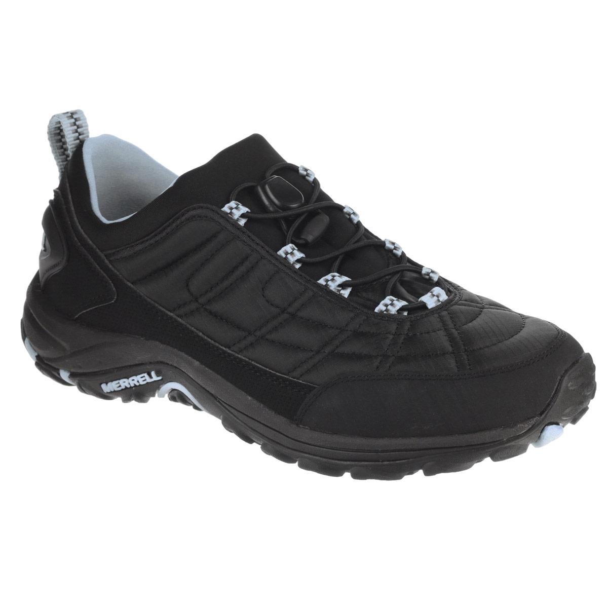 J144429CУдобные трекинговые женские кроссовки Ice Cap Moc III Stretch от Merrell прекрасно подойдут для активного отдыха. Верх модели выполнен из нейлона с водоотталкивающей пропиткой. Резиновый бампер носка защитит кроссовки при носке и продлит срок их службы. Подкладка, выполненная из мягкого флиса и текстиля, защитит ноги от холода. Эластичная шнуровка с пластиковым стоппером надежно фиксирует модель на ноге. Кроссовки оформлены вставками из искусственной кожи, цветными петельками для шнурков, на заднике рельефной надписью Merrell. Промежуточная подошва выполнена из ЭВА с Air Cushion - гибкого, легкого материала обладающего отличной амортизацией, который стабилизирует и защищает от ударов стопу. Подошва Merrell Mimic Sole из резины с рельефным протектором обеспечивает отличное сцепление на скользкой и заснеженной поверхности. Эти кроссовки оптимальный вариант для трекинга. В них вашим ногам будет комфортно и уютно.