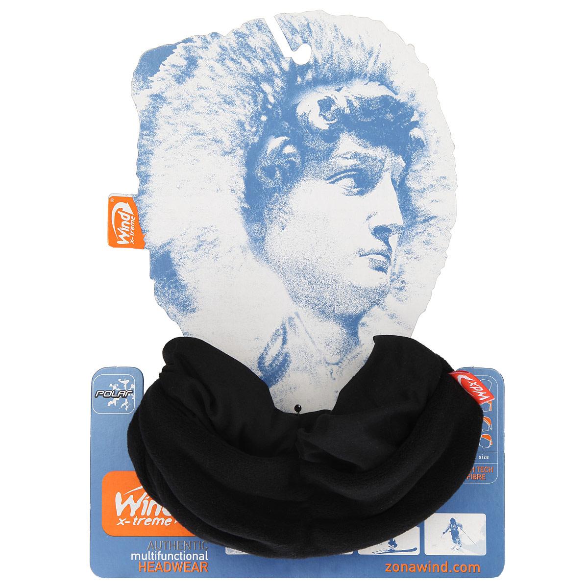 БанданаУТ-0000572116_UltraBlackМногофункциональный головной убор WindXtreme PolarWind - это очень современный предмет одежды, который защитит вас от самого лютого мороза благодаря комбинации ткани и флиса. Его можно использовать как: шарф, шейный платок, бандану, повязку, ленту для волос, балаклаву и шапку. Подходит для занятий бегом, походов, скалолазания, езды на велосипеде, сноуборда, катания на лыжах, мотоциклах, игры в хоккей, а так же для повседневного использования. Сочетание ткани и флиса Pilhot из микроволокна гарантируют дополнительные тепло и комфорт, отведение влаги, быстрое высыхание, очень эластичны, принимают практически любую форму. Обладает антибактериальным эффектом. Уважаемые клиенты! Размер, доступный для заказа, является обхватом головы.