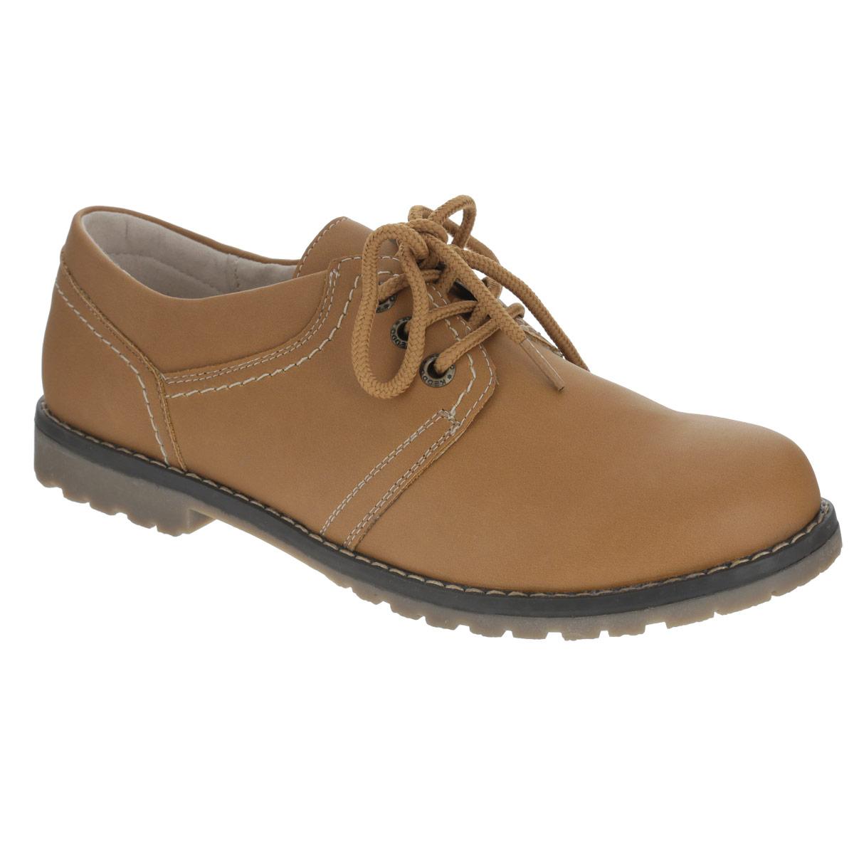 Полуботинки женские. 858325/12-05858325/12-05Классические женские полуботинки от Keddo внесут изюминку в ваш образ. Модель изготовлена из искусственного нубука и оформлена крупной прострочкой вдоль ранта, контрастной вставкой на подошве. Шнуровка прочно зафиксирует обувь на вашей ноге. Стелька из натуральной кожи позволяет ногам дышать. Подошва и каблук с противоскользящим рифлением обеспечивают отличное сцепление с поверхностью. Удобные полуботинки - незаменимая вещь в гардеробе истинной модницы.