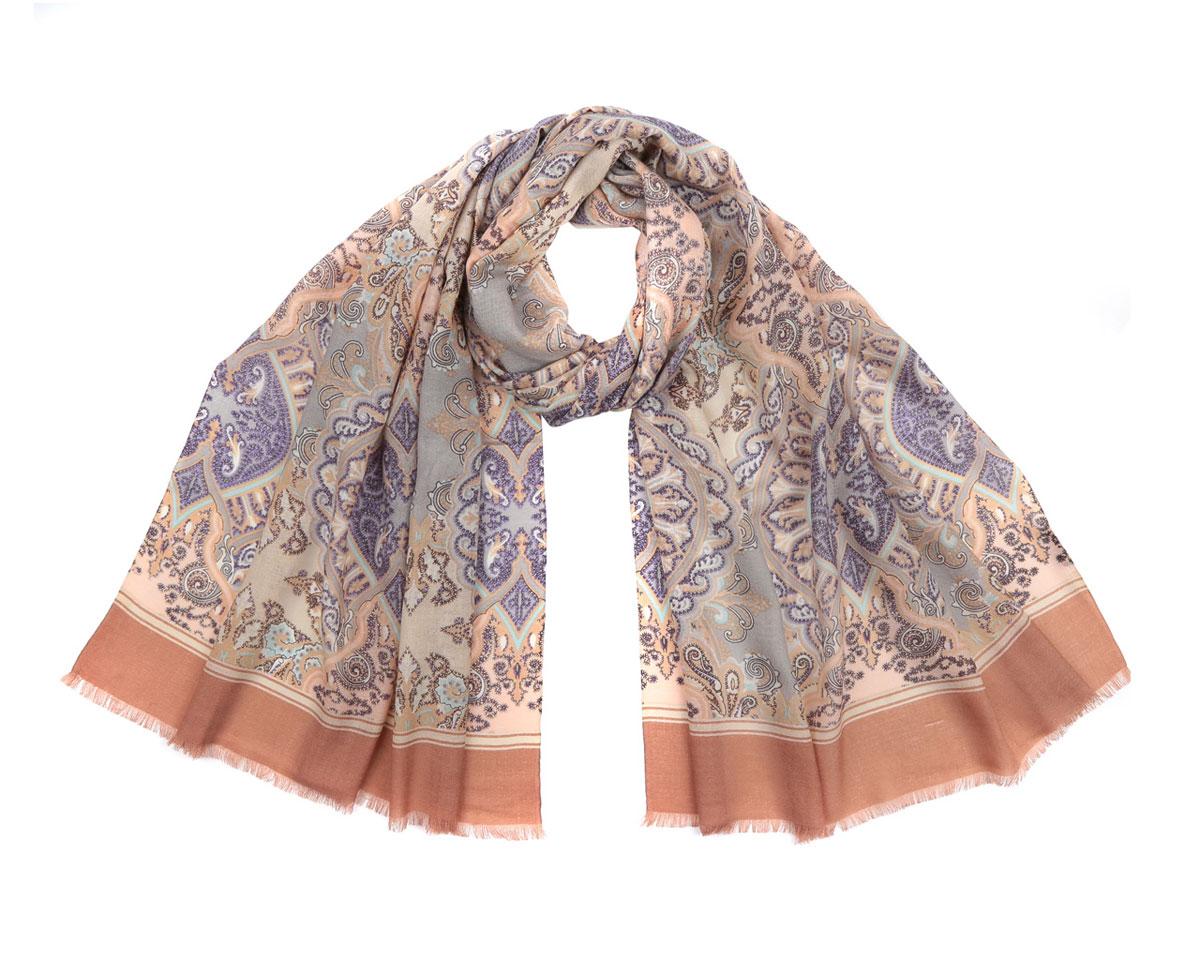 Шарф женский. CJ15121-BCJ15121-BМодный женский шарф Fabretti подарит вам уют и станет стильным аксессуаром, который призван подчеркнуть вашу индивидуальность и женственность. Шарф выполнен из 100% мерсеризованной шерсти, оформлен оригинальным принтом с красочным восточным орнаментом, а также дополнен тонкой бахромой по краям. Этот модный аксессуар гармонично дополнит образ современной женщины, следящей за своим имиджем и стремящейся всегда оставаться стильной и элегантной. Такой шарф украсит любой наряд и согреет вас в непогоду, с ним вы всегда будете выглядеть изысканно и оригинально.