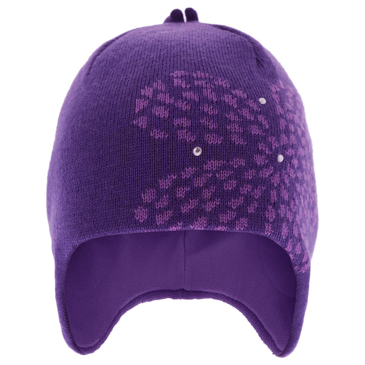 Шапка детская528424-100Стильная теплая детская шапка Reima Laughter идеально подойдет для прогулок в холодное время года. Шапочка с ветрозащитными вставками в области ушей, выполненная из натуральной шерстяной пряжи, максимально сохраняет тепло, она мягкая и идеально прилегает к голове. Шерсть хорошо тянется и устойчива к сминанию. Мягкая подкладка выполнена из эластичного хлопка, поэтому шапка хорошо сохраняет тепло, позволяет коже дышать и обладает отличной гигроскопичностью. Шапка оформлена стилизованным изображением цветка и тремя блестящими стразами. Такая шапка станет модным и стильным дополнением гардероба вашего малыша. Она поднимет ему настроение даже в самые морозные дни! Уважаемые клиенты! Размер, доступный для заказа, является обхватом головы.