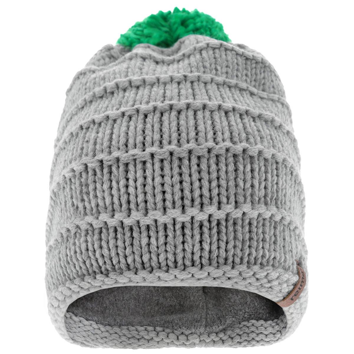 Шапка-бини детская Wild. 538010538010-4670Уютная теплая детская шапка Reima Wild идеально подойдет для прогулок в холодное время года. Шапочка мелкой вязки с ветрозащитными вставками в области ушей, выполненная из акриловой пряжи, максимально сохраняет тепло, она мягкая и идеально прилегает к голове. Шапочка хорошо тянется и устойчива к сминанию. Мягкая подкладка выполнена из флиса, поэтому шапка хорошо сохраняет тепло и не продувается. Шапка оформлена помпоном из мягкой пряжи контрастного цвета. Такая шапка станет модным и стильным дополнением гардероба вашего малыша. Она поднимет ему настроение даже в самые морозные дни! Уважаемые клиенты! Размер, доступный для заказа, является обхватом головы.