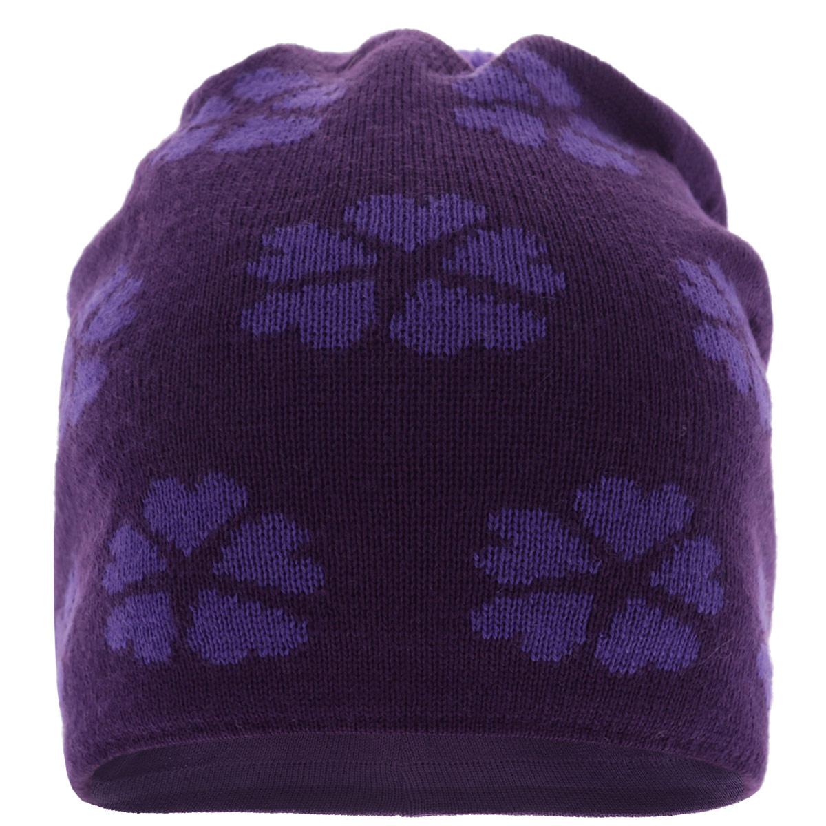 Шапка детская528425-4830Стильная теплая детская шапка Reima Hemlig идеально подойдет для прогулок в холодное время года. Шапочка с ветрозащитными вставками в области ушей, выполненная из натуральной шерстяной пряжи, максимально сохраняет тепло, она мягкая и идеально прилегает к голове. Шерсть хорошо тянется и устойчива к сминанию. Мягкая подкладка выполнена из хлопка, поэтому шапка хорошо сохраняет тепло, позволяет коже дышать и обладает отличной гигроскопичностью. Шапка оформлена стильным цветочным узором и небольшим пушистым помпоном. Такая шапка станет модным и стильным дополнением гардероба вашего малыша. Она поднимет ему настроение даже в самые морозные дни! Уважаемые клиенты! Размер, доступный для заказа, является обхватом головы.