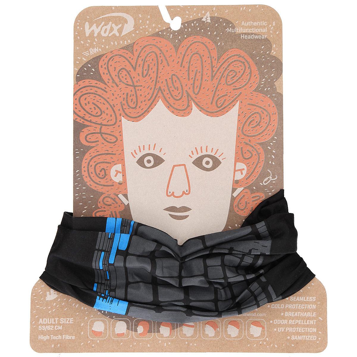 Бандана многофункциональная WindУТ-00006334_BlackJackМногофункциональный головной убор WindXtreme Wind - это очень современный предмет одежды, который защитит вас от ветра. Его можно использовать как: шарф, шейный платок, бандану, повязку, ленту для волос, балаклаву и шапку. Подходит для занятий бегом, походов, скалолазания, езды на велосипеде, сноуборда, катания на лыжах, мотоциклах, игры в хоккей, а так же для повседневного использования. Бандана не имеет швов, а материал из микроволокна позволяет коже дышать, гарантирует дополнительные тепло и комфорт, отведение влаги, быстрое высыхание. Изделие очень эластично и принимает практически любую форму. Обладает антибактериальным эффектом. Уважаемые клиенты! Размер, доступный для заказа, является обхватом головы.