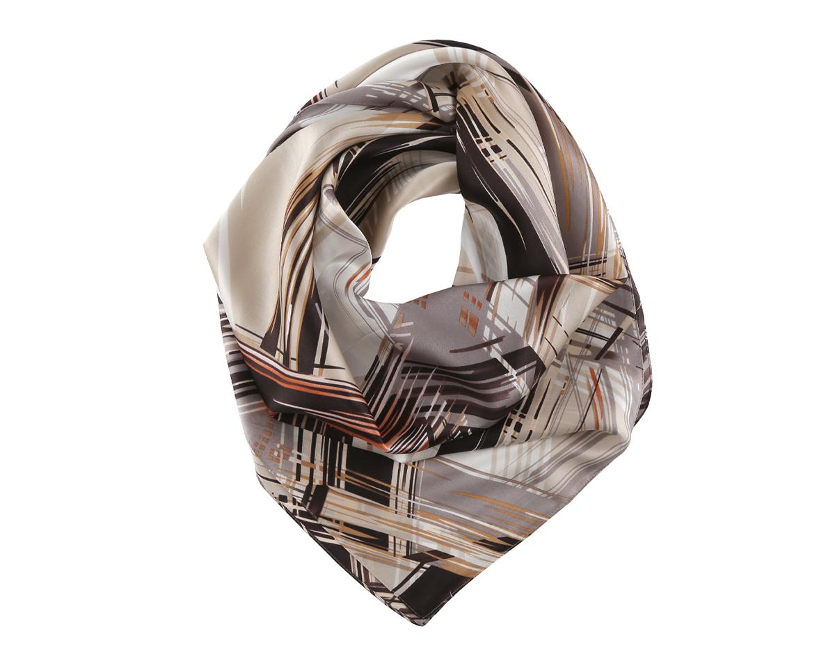 ПлатокMSK7099-BОригинальный шелковый женский платок Fabretti хочется носить бесконечно, что вполне реально благодаря высокому качеству. Модель изготовлена из 100% шелка и оформлена ярким абстрактным узором. Дизайн полотна придает модели удивительно динамичное и яркое настроение. Края модели по периметру обработаны строчкой. Платок можно повязать на шею, украсить им причёску или повесить на сумочку. Платок Fabretti добавит изысканности в ваш образ и привлечет всеобщее внимание.