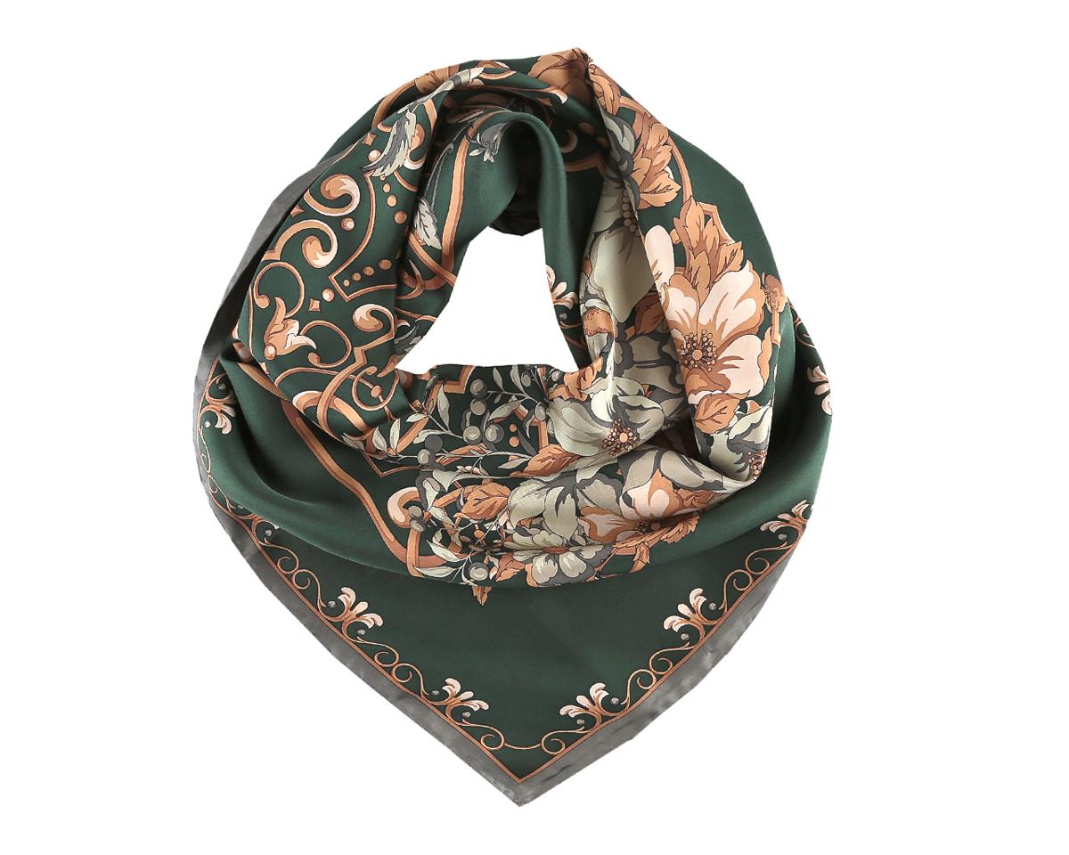 Платок женский. CX1516-38-3CX1516-38-3Изумительный шелковый женский платок Fabretti станет изысканным аксессуаром, который подчеркнет ваши индивидуальность и очарование. Модель изготовлена из 100% шелка и оформлена распустившимися нежными цветами с изящными узорами. Дизайн полотна придает модели удивительно динамичное и яркое настроение. Края модели по периметру обработаны вручную. Платок можно повязать на шею, украсить им причёску или повесить на сумочку. Платок Fabretti станет вашим верным спутником, а окружающие обязательно будут обращать свое восторженное внимание на вас.