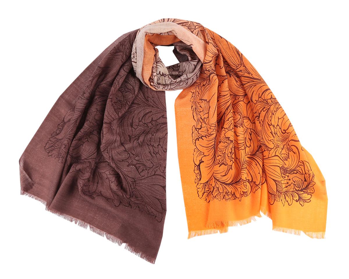ШарфYNNT0116-11-1Элегантный шарф Fabretti станет изысканным нарядным аксессуаром, который призван подчеркнуть индивидуальность и очарование женщины. Цветочный дизайн полотна придает модели удивительно динамичное и яркое настроение. Края модели оформлены коротенькой бахромой. Этот модный аксессуар женского гардероба гармонично дополнит образ современной женщины в прохладное время года, следящей за своим имиджем и стремящейся всегда оставаться стильной и элегантной.