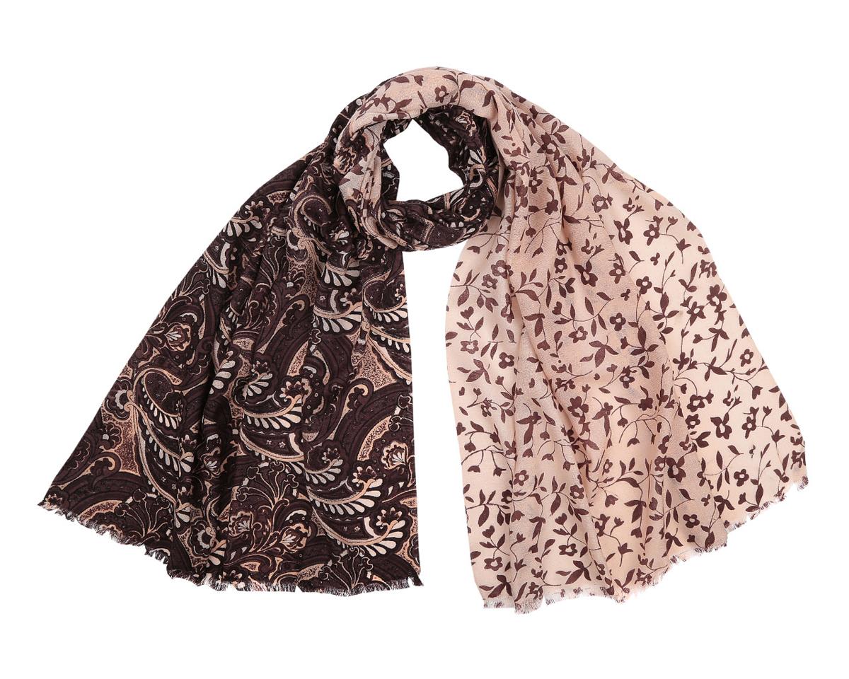 Шарф женский. YNNT0120YNNT0120-30Стильный шарф от Fabretti подчеркнет ваш неповторимый образ. Купив один-единственный аксессуар, вы можете полностью изменить свой образ, экспериментируя со способами его завязывания и вариациями сочетаний с разными нарядами. Модель легкая с приятной фактурой, изготовлена из мерсеризованной шерсти, благодаря чему полотно шарфа тонкое и теплое. Шарф украшен красивым расписным узором. Края модели декорированы бахромой. Шарф Fabretti гармонично дополнит образ современной женщины следящей за своим имиджем и стремящейся всегда оставаться стильной и элегантной.