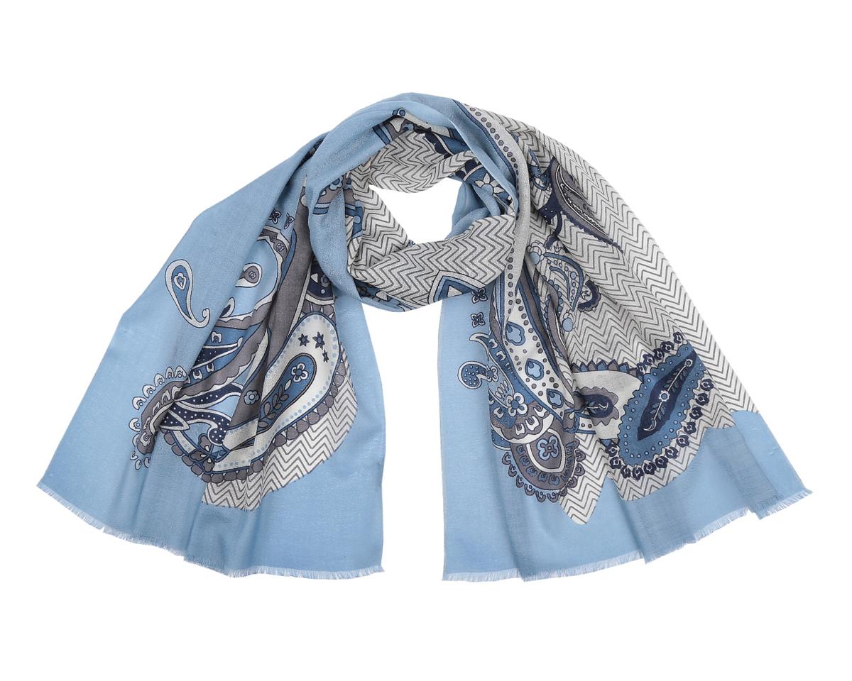 ШарфYNNT0407-29Потрясающий женский шарф Fabretti выполнен из шерсти и украшен актуальным этническим узором. Края модели оформлены коротенькой бахромой. Великолепный женский шарф Fabretti незаменимая деталь гардероба, окружающие обязательно будут обращать свое восторженное внимание на вас.