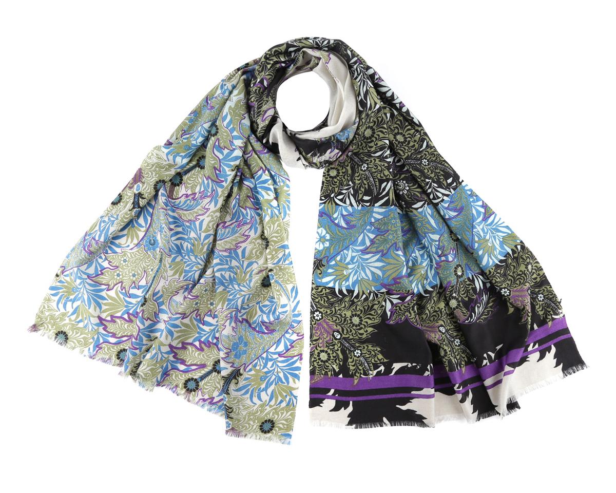 Шарф женский. YQ14008YQ14008Элегантный шарф от Fabretti поможет внести живость в любой образ, подарит уют и защитит от холодного ветра. Модель изготовлена из мерсеризованной шерсти, благодаря чему полотно шарфа тонкое и теплое. Шарф оформлен оригинальным рисунком. Края модели декорированы бахромой. Этот модный аксессуар женского гардероба гармонично дополнит образ современной женщины, следящей за своим имиджем и стремящейся всегда оставаться стильной и элегантной.