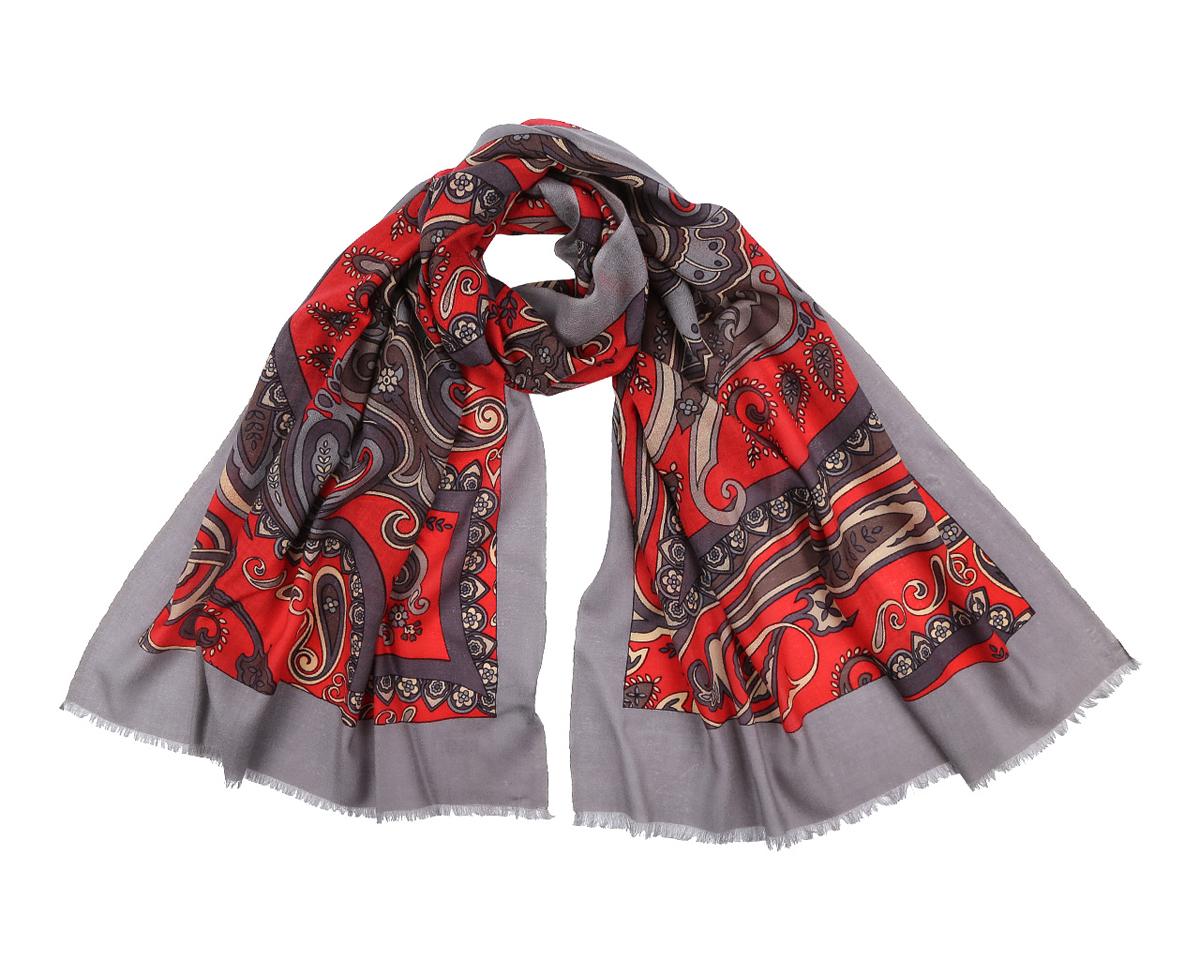 ШарфYNNT01212-26Элегантный шарф от Fabretti поможет внести живость в любой образ, подарит уют и согреет от холодного ветра. Модель изготовлена из мерсеризованной шерсти, благодаря чему полотно шарфа тонкое и теплое. Шарф украшен красивым этническим узором. Края модели декорированы бахромой. Этот модный аксессуар женского гардероба гармонично дополнит образ современной женщины, следящей за своим имиджем и стремящейся всегда оставаться стильной и элегантной.